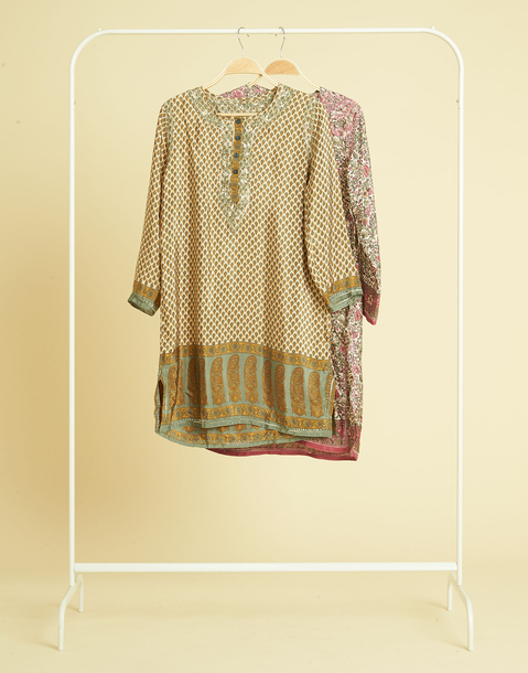 SILK EMBROIDERED TUNIC