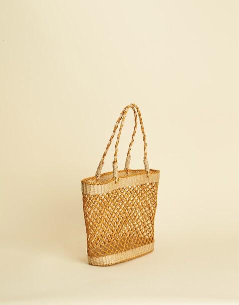 ORANGE STRAW BAG