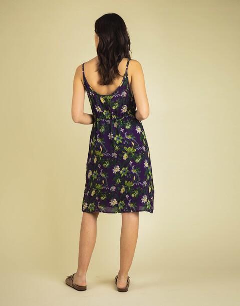 FLORAL SLIP DRESS WITH BELT