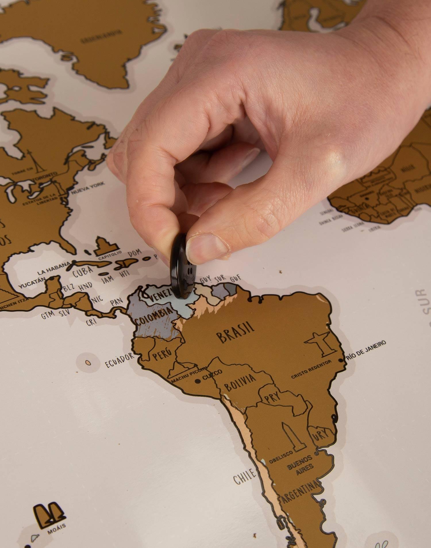 Cartina Mondo Gratta.Cartina Da Grattare Monumenti Del Mondo Natura