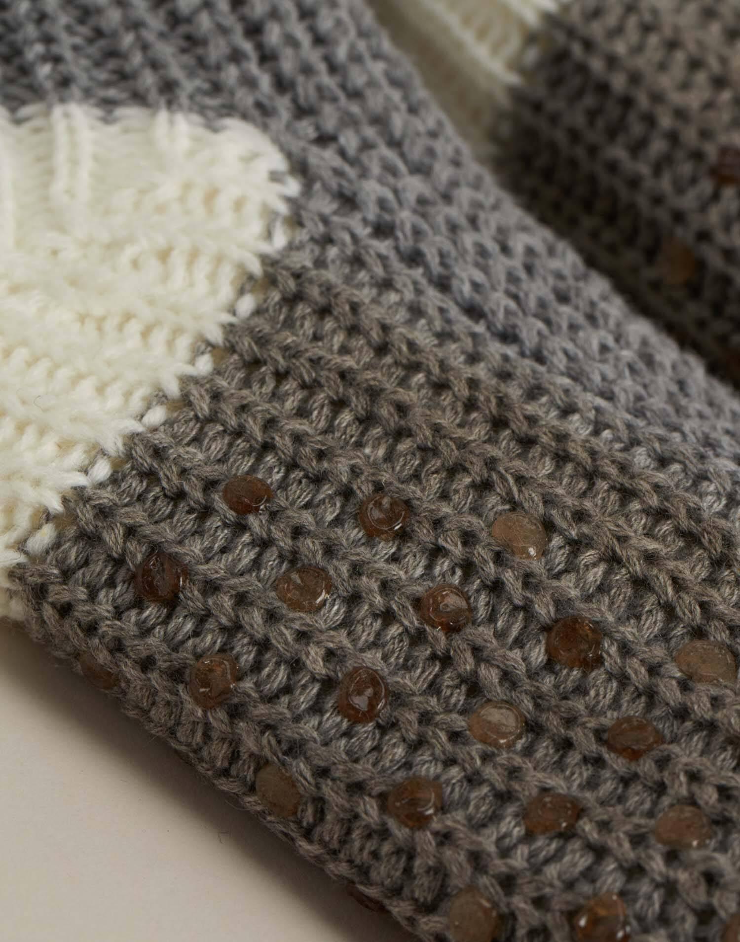 Men's knit slipper socks