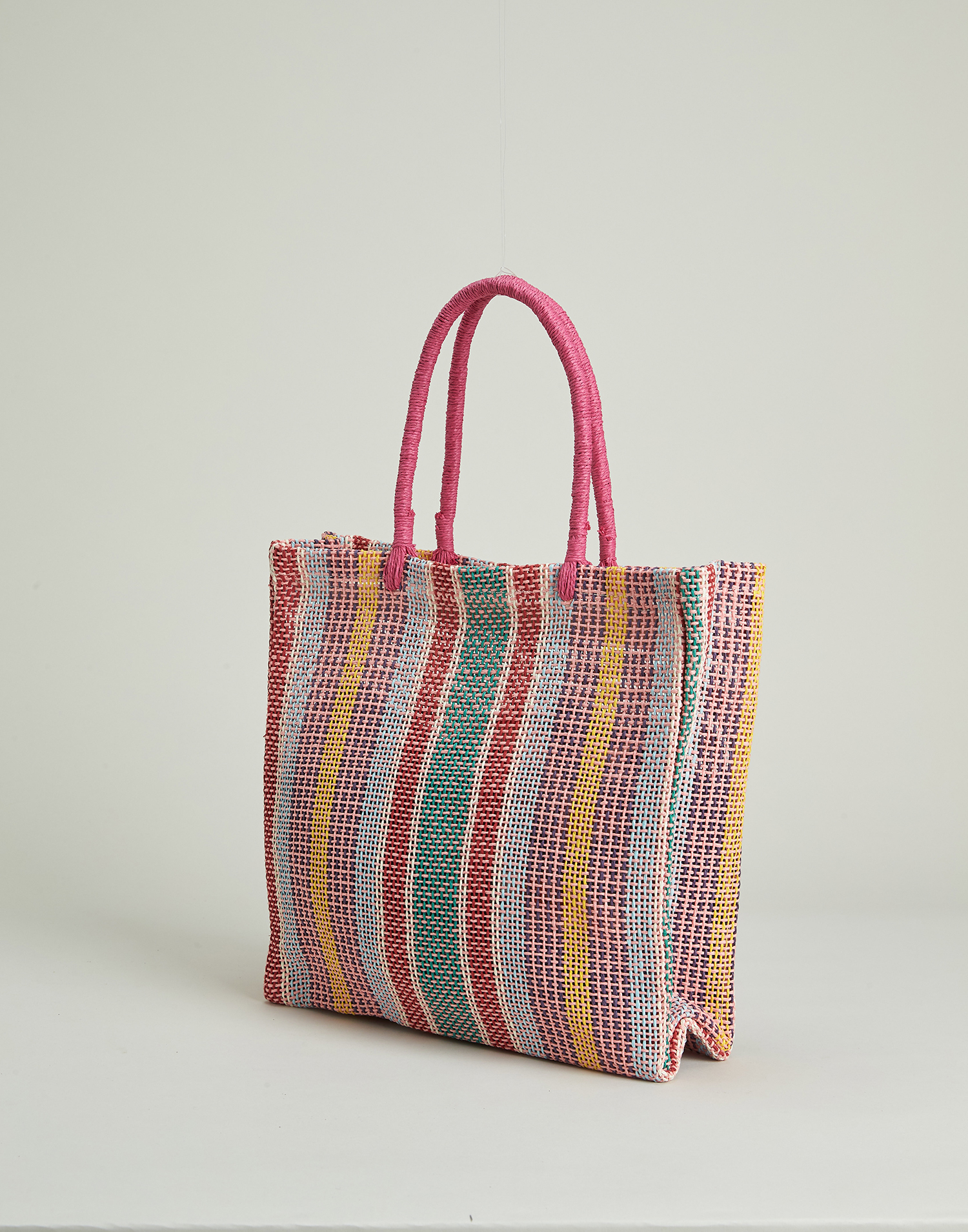 Multicolored paper bag