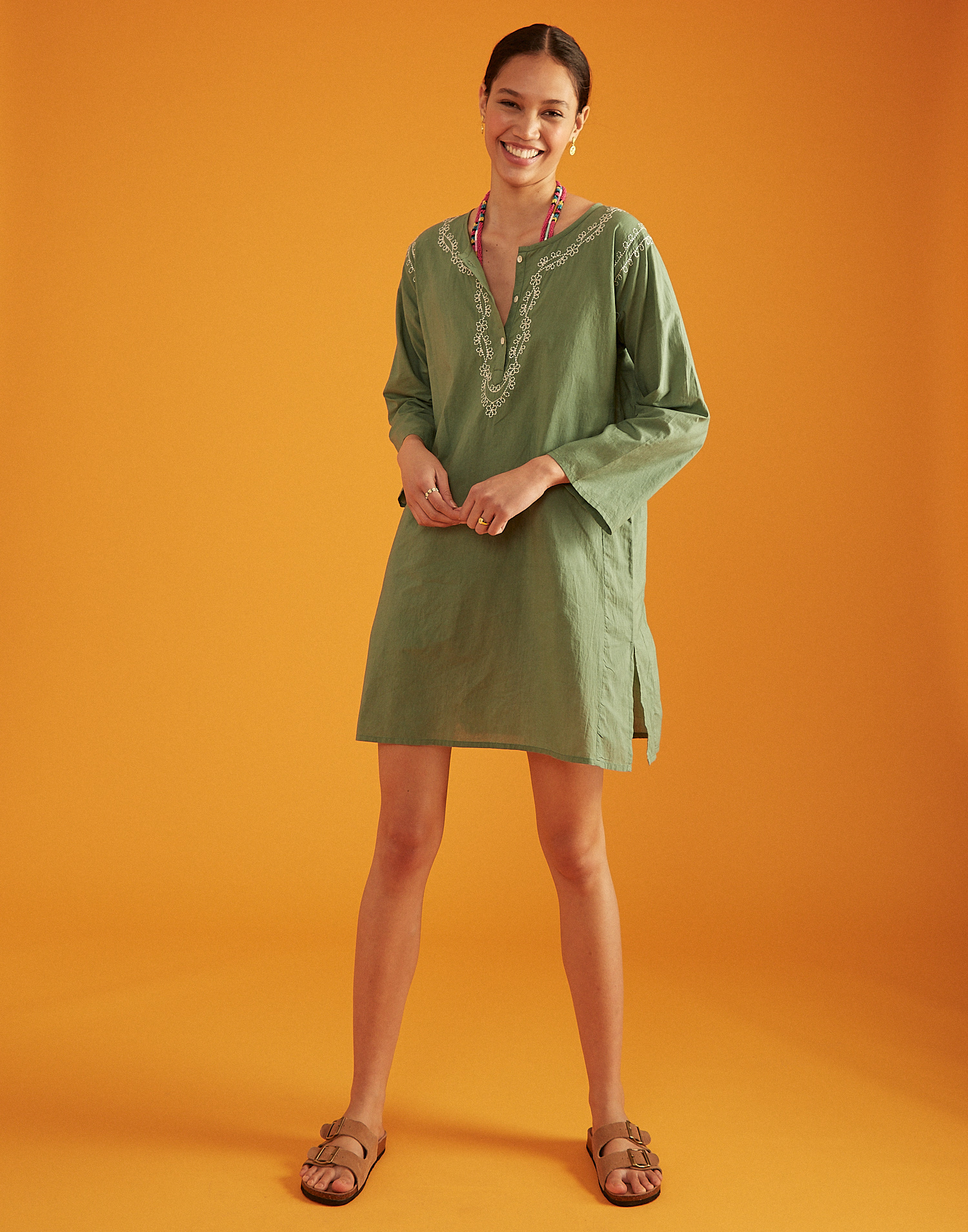 Long sleeve cotton tunic