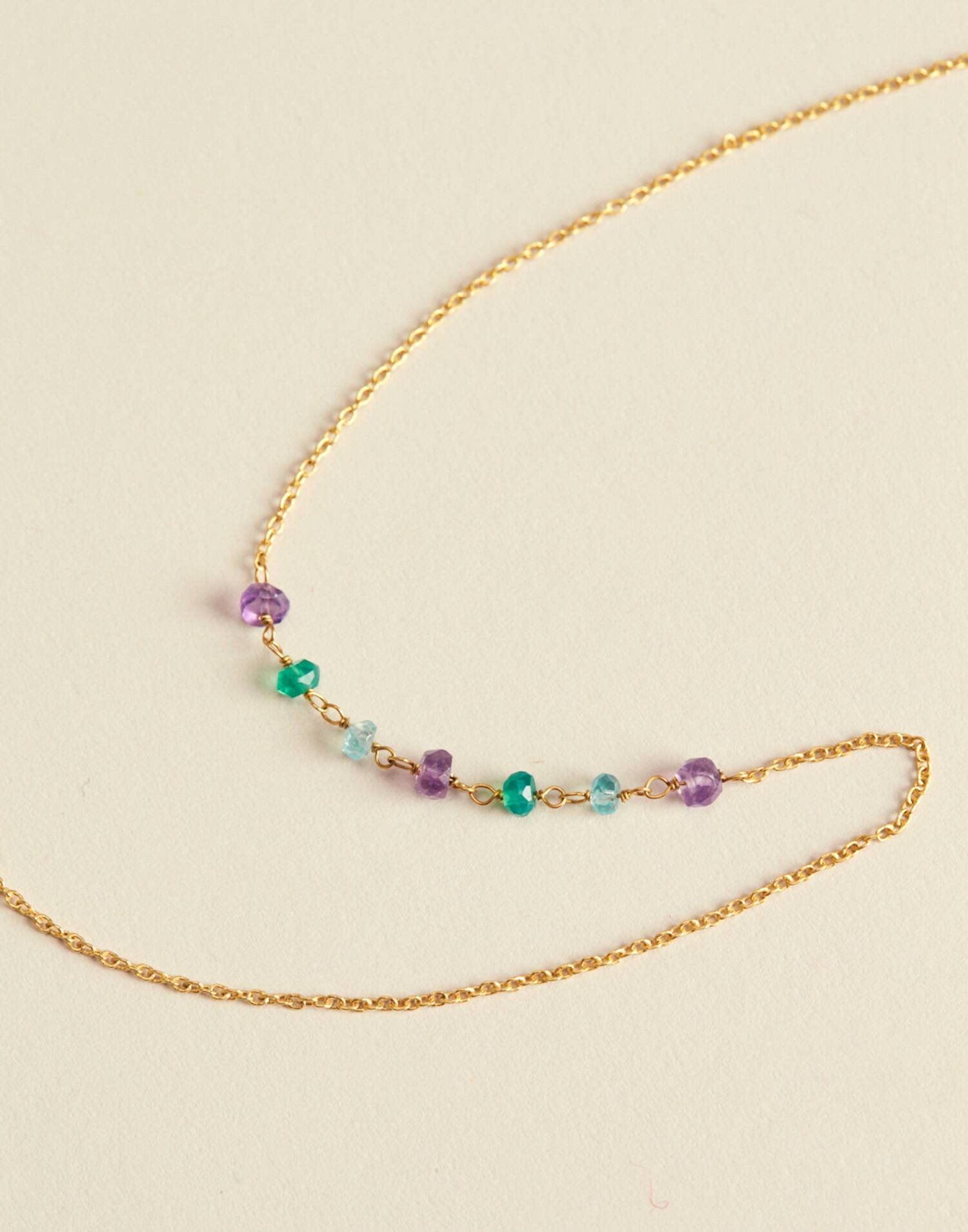 MULTICOLOR GOLD PLATED NECKLACE