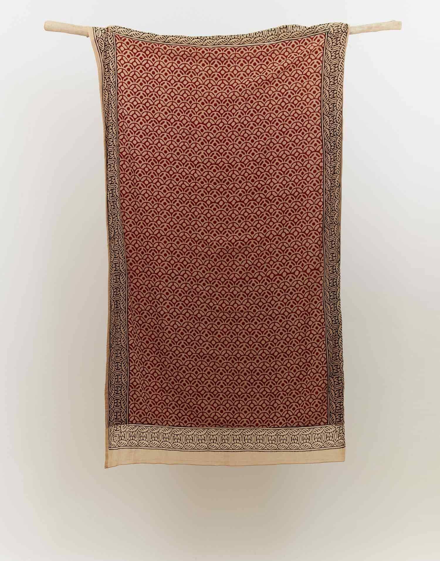 Indian geometric pareo towel