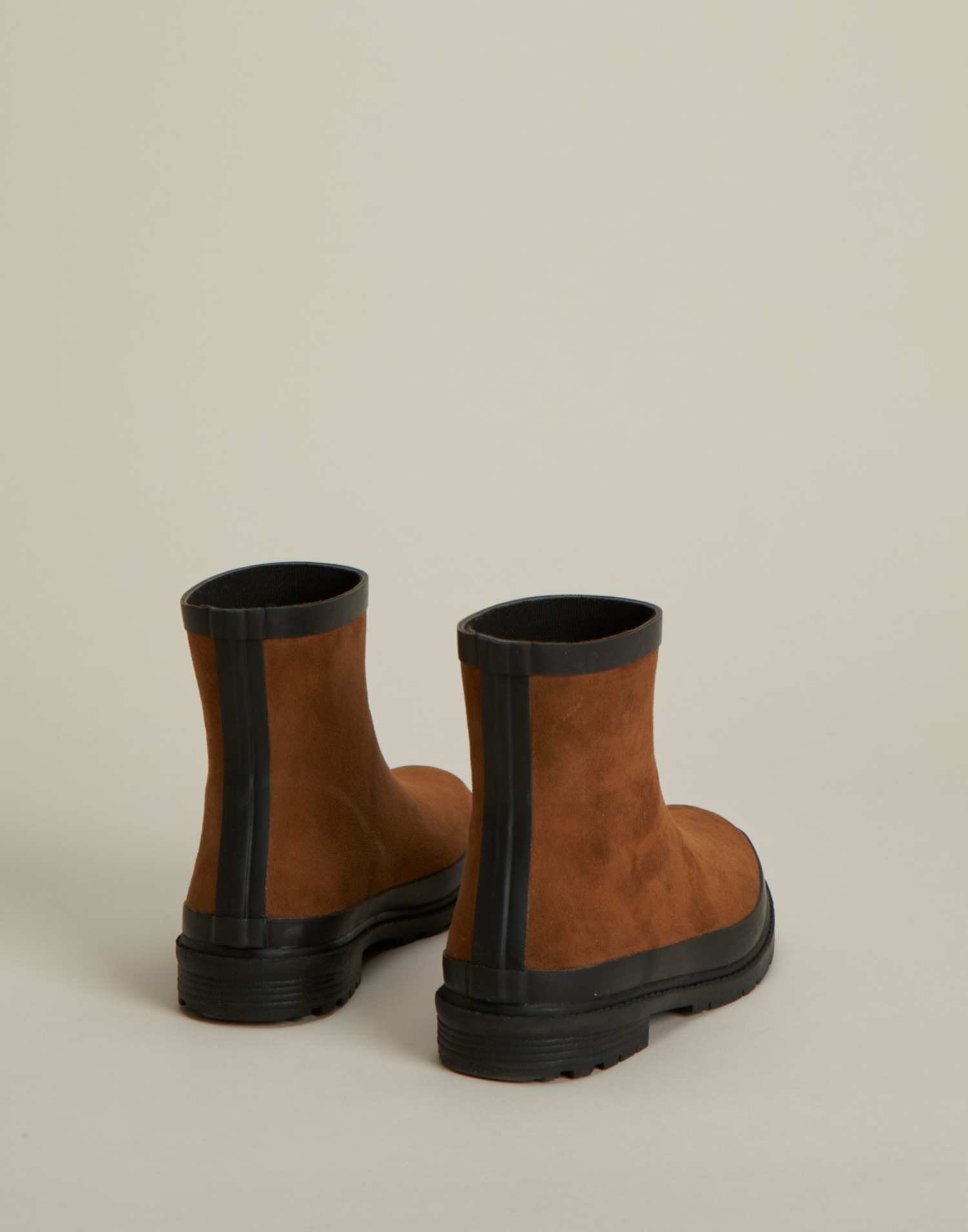 Stivali di gomma effetto pelle