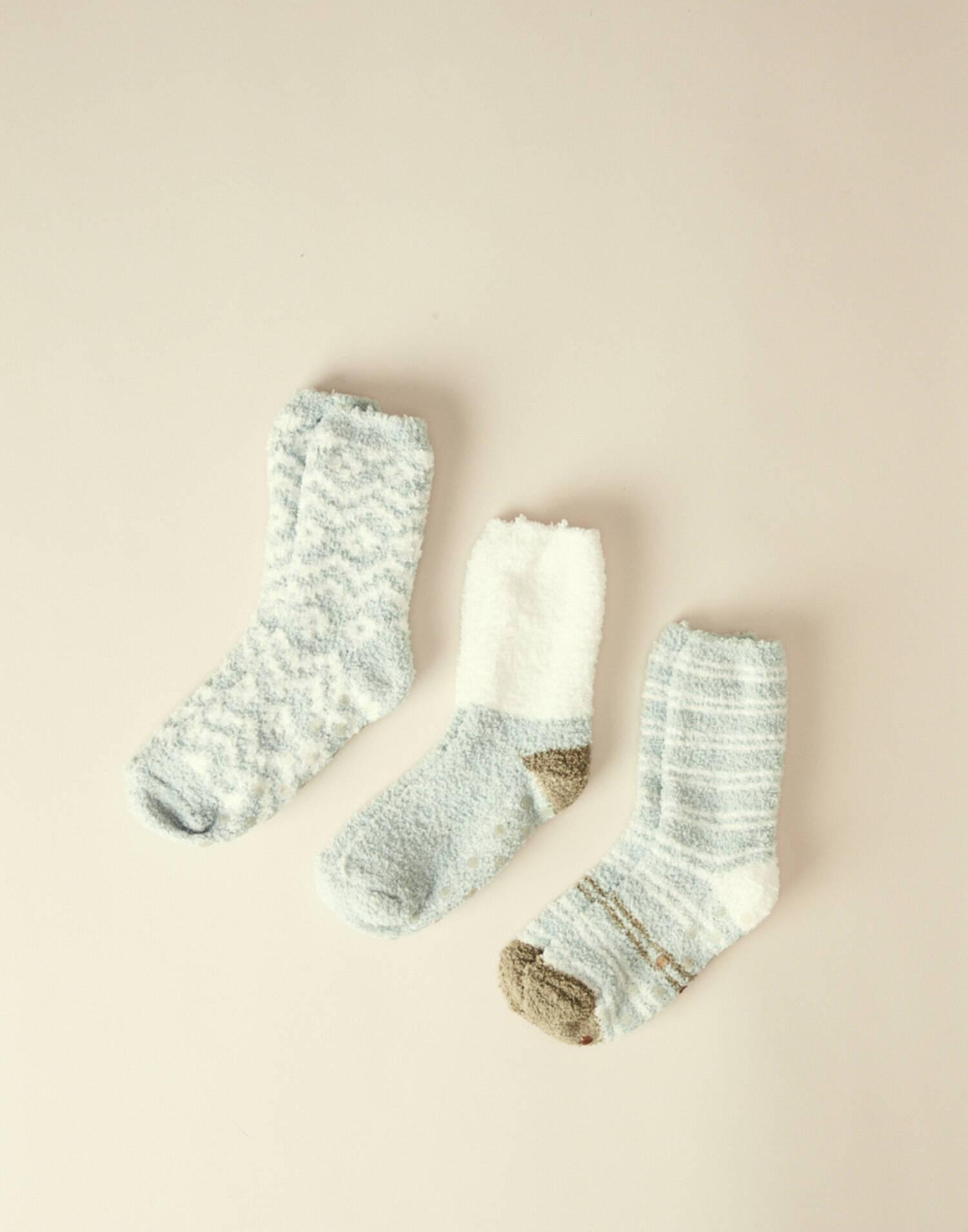 Anti-slip fleece socks 3-pack