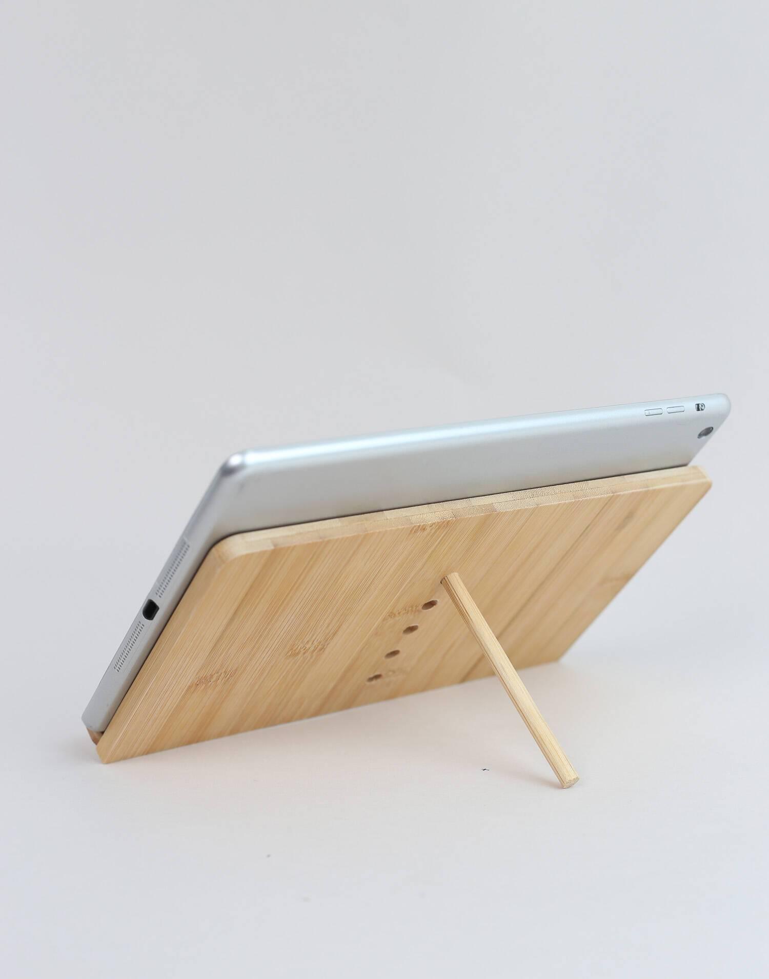 Soporte tablet bambú