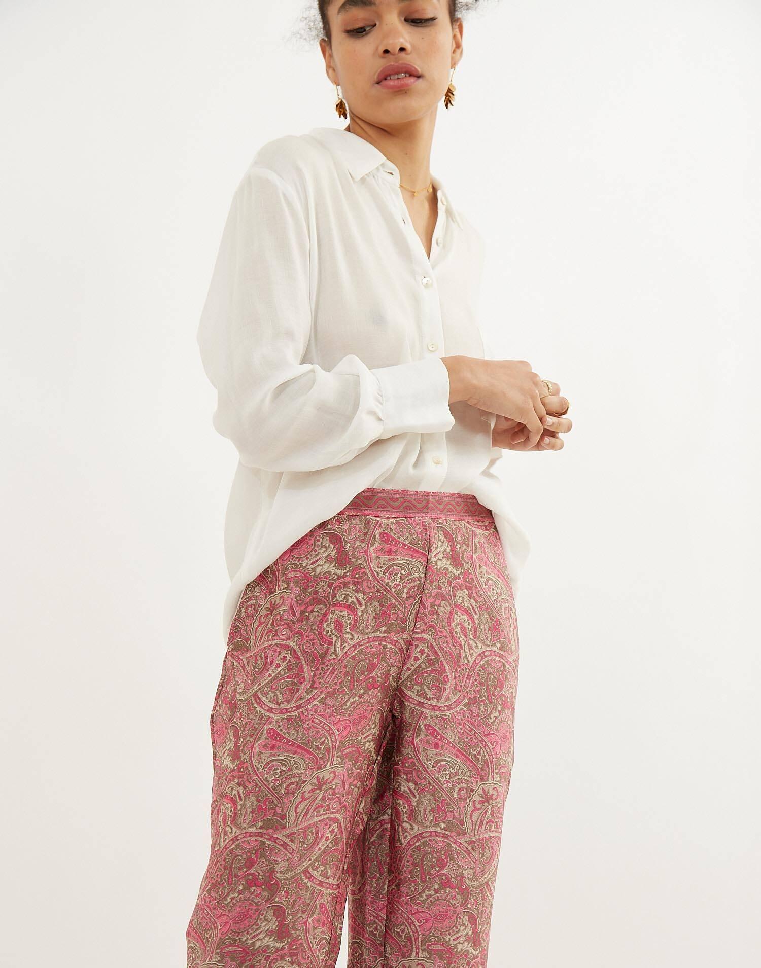 Pantalón largo goma seda
