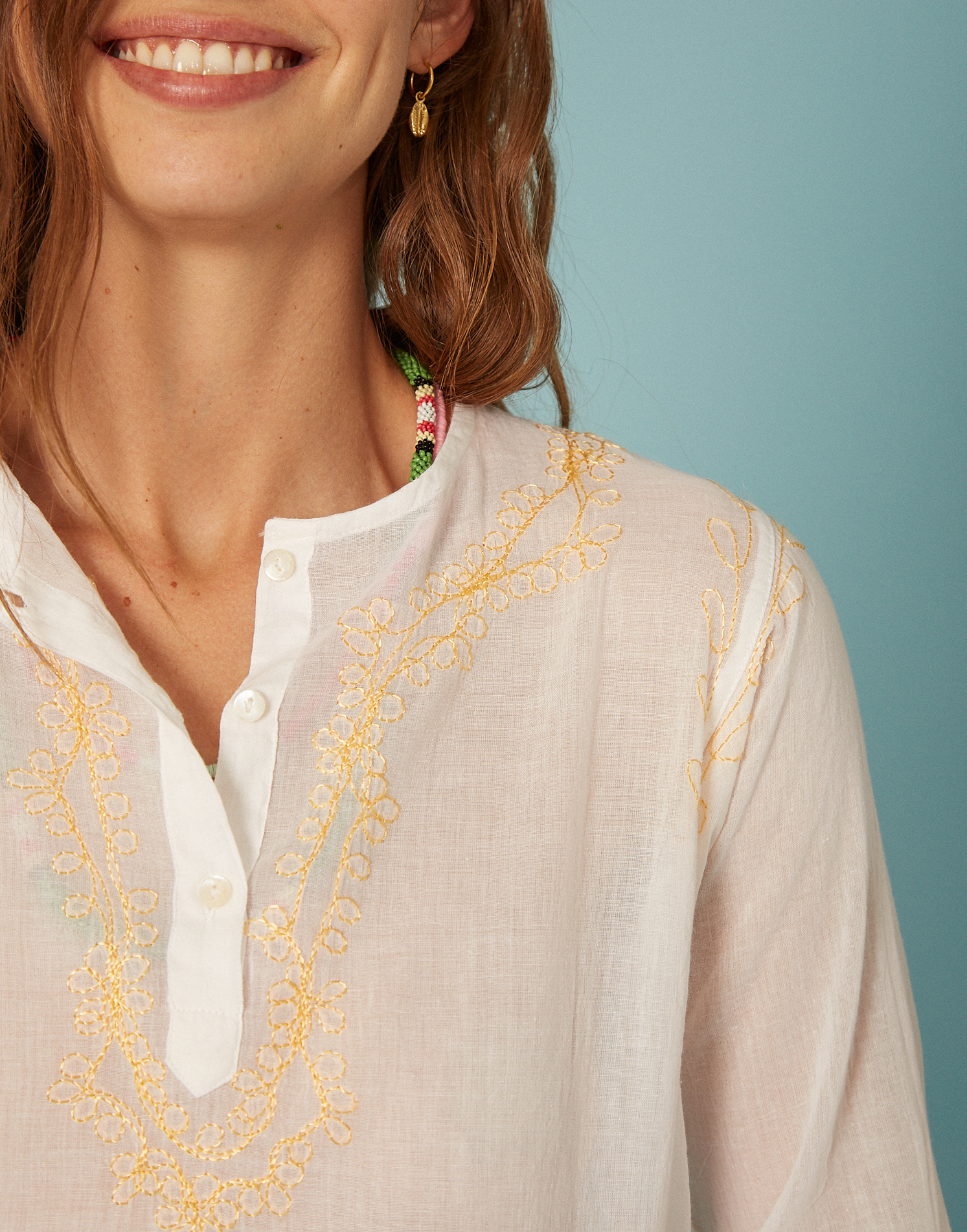 Blusa bordado indio