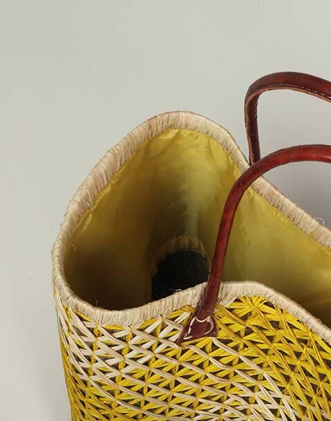 Mesh effect basket bag