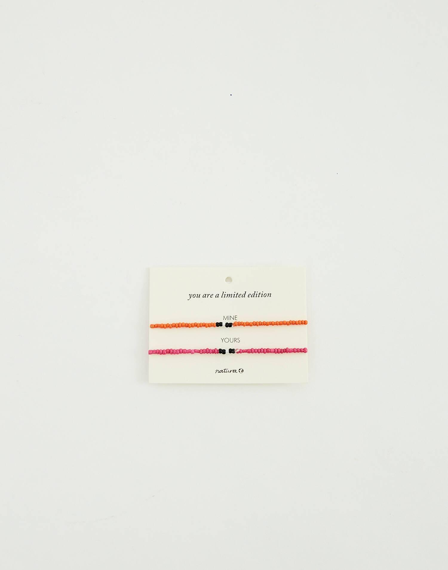 Pack 2 pulseras con mensaje regalo