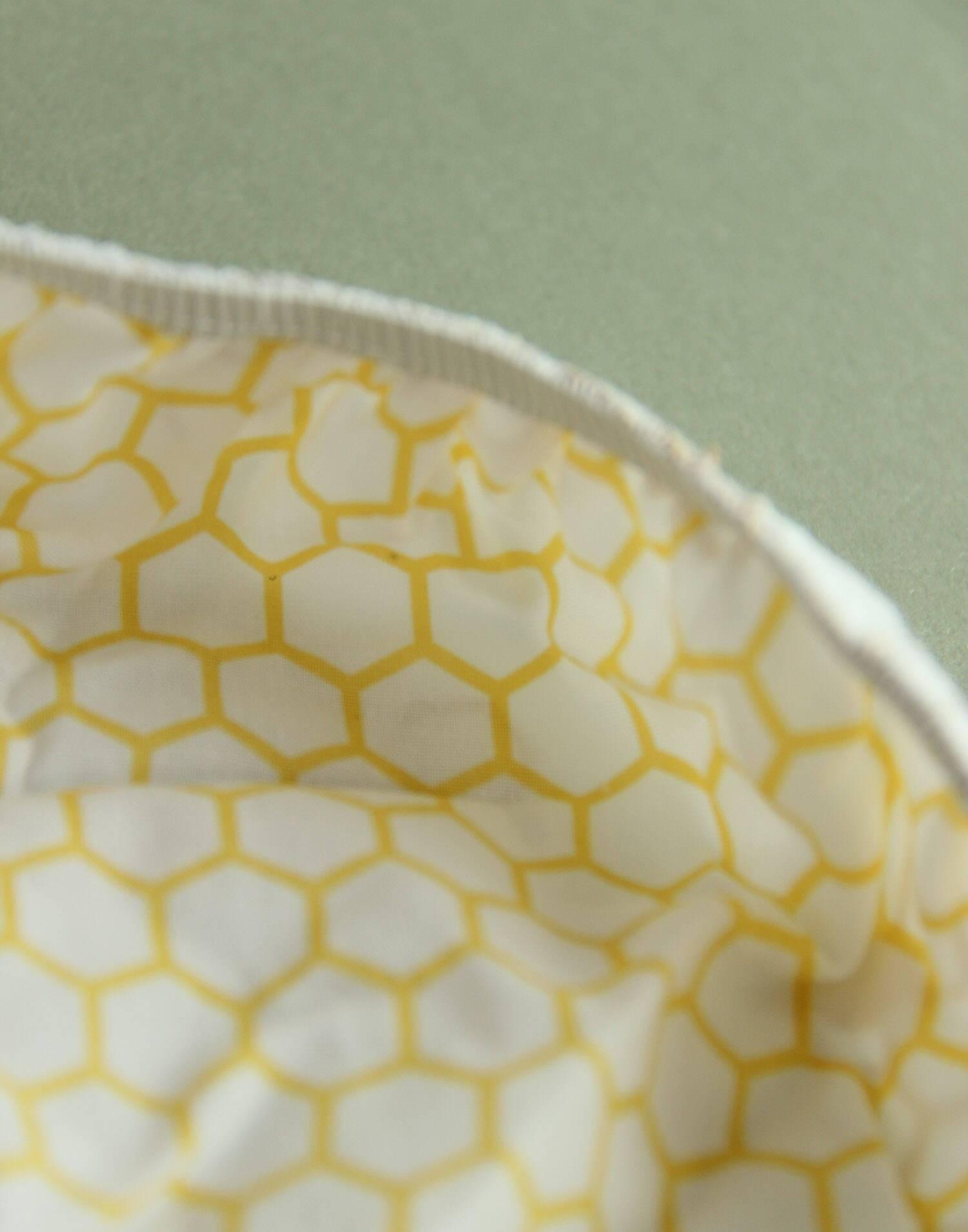 Set 2 tapas algodón con goma