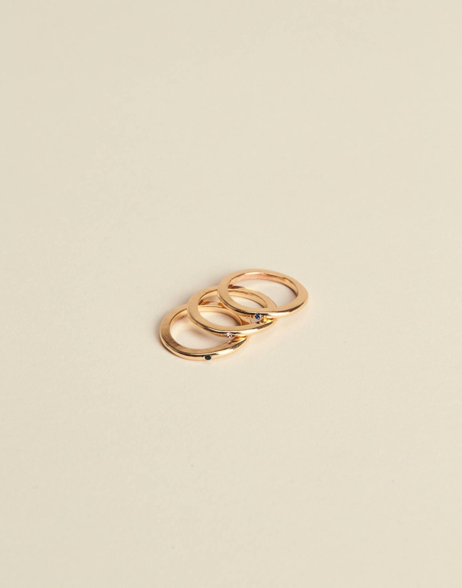 Pack 3 anillos piedra