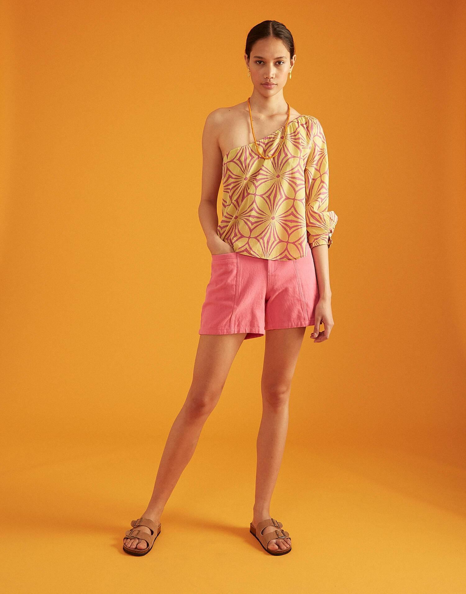 Segeltuch-shorts pink