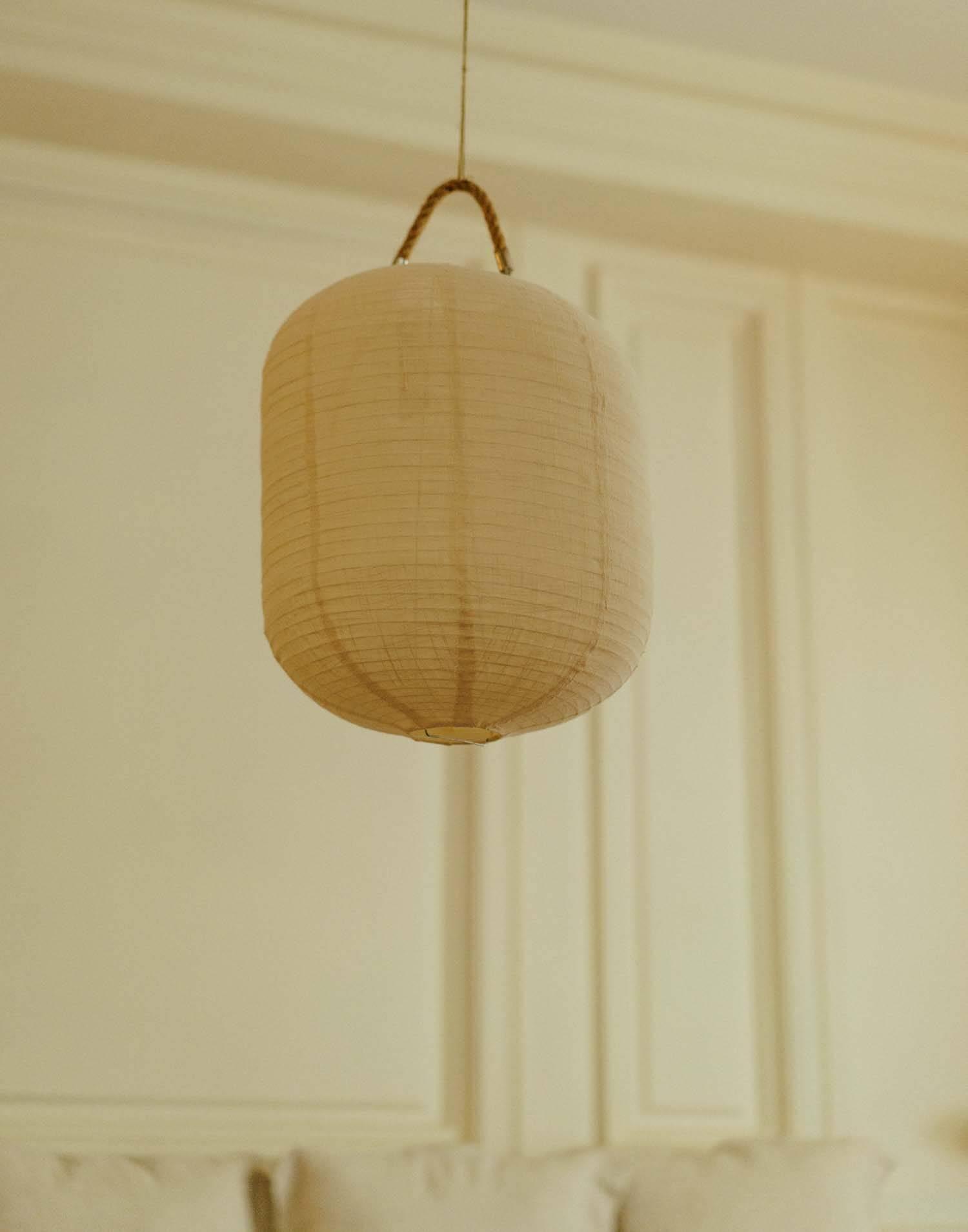 Lámpara techo tela oval