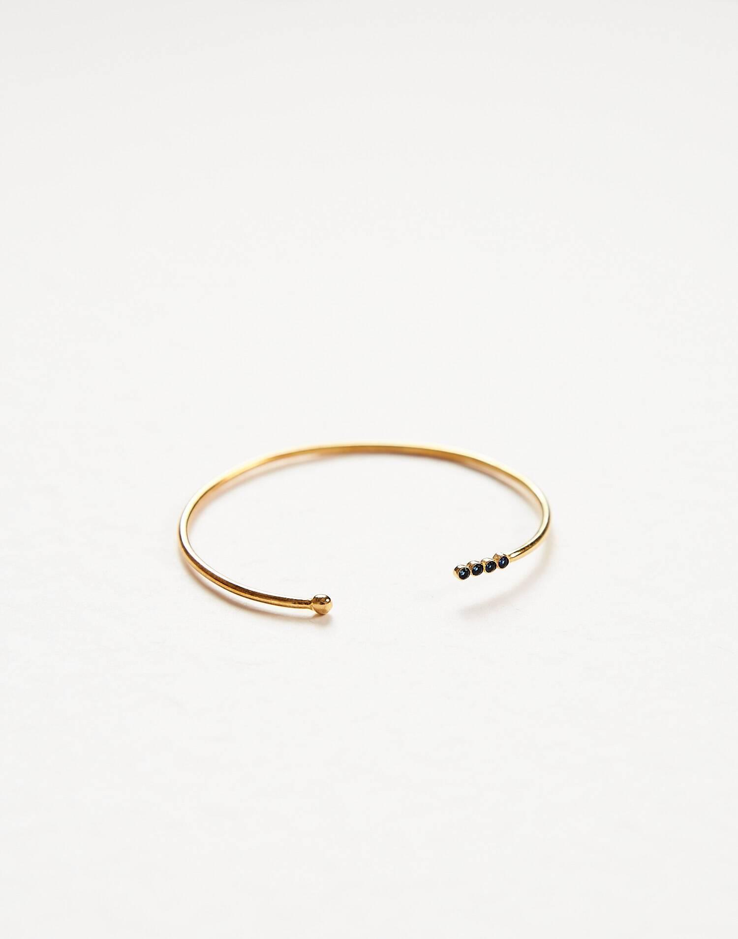 Bracelet pierres doré