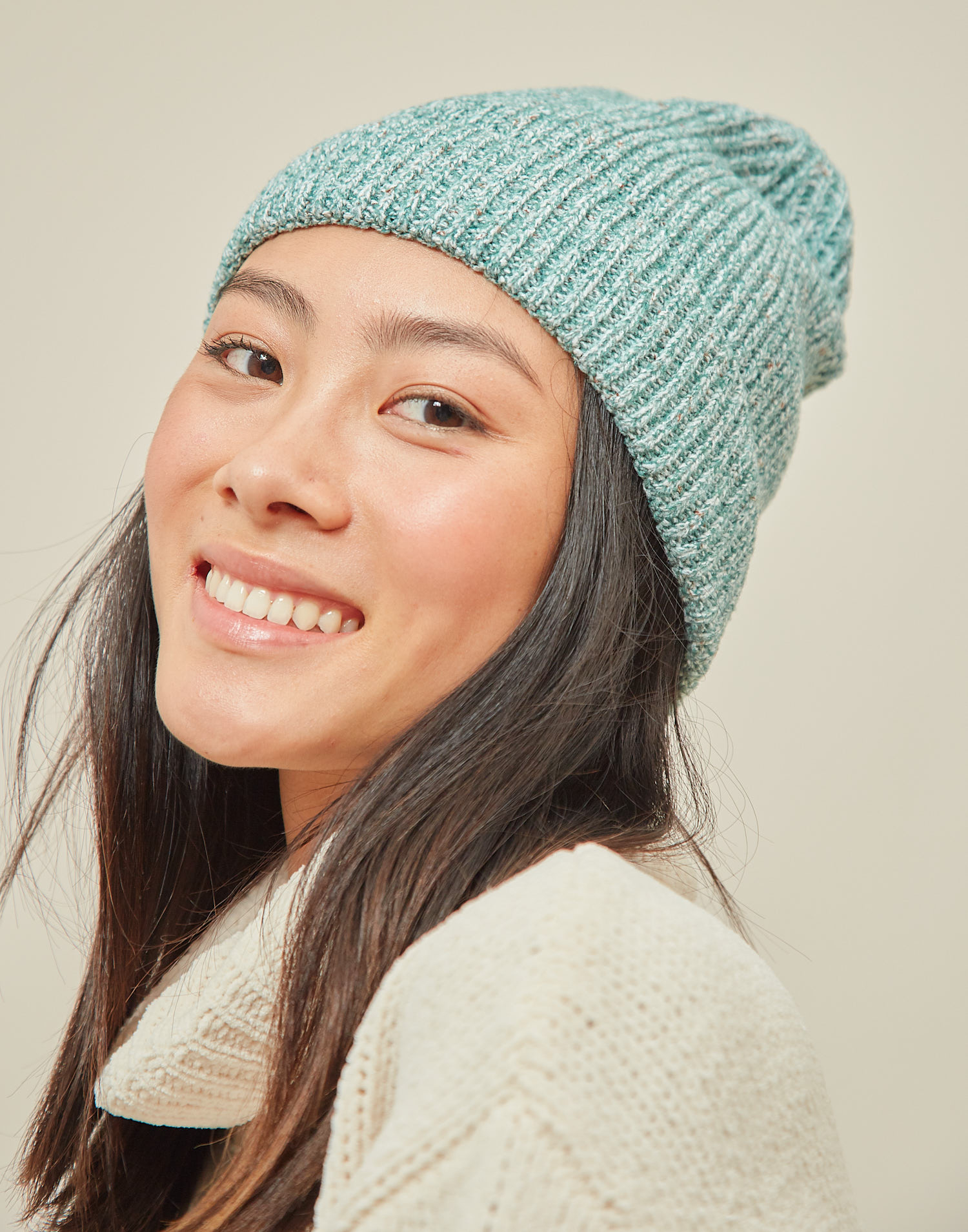 Recycled knit beanie