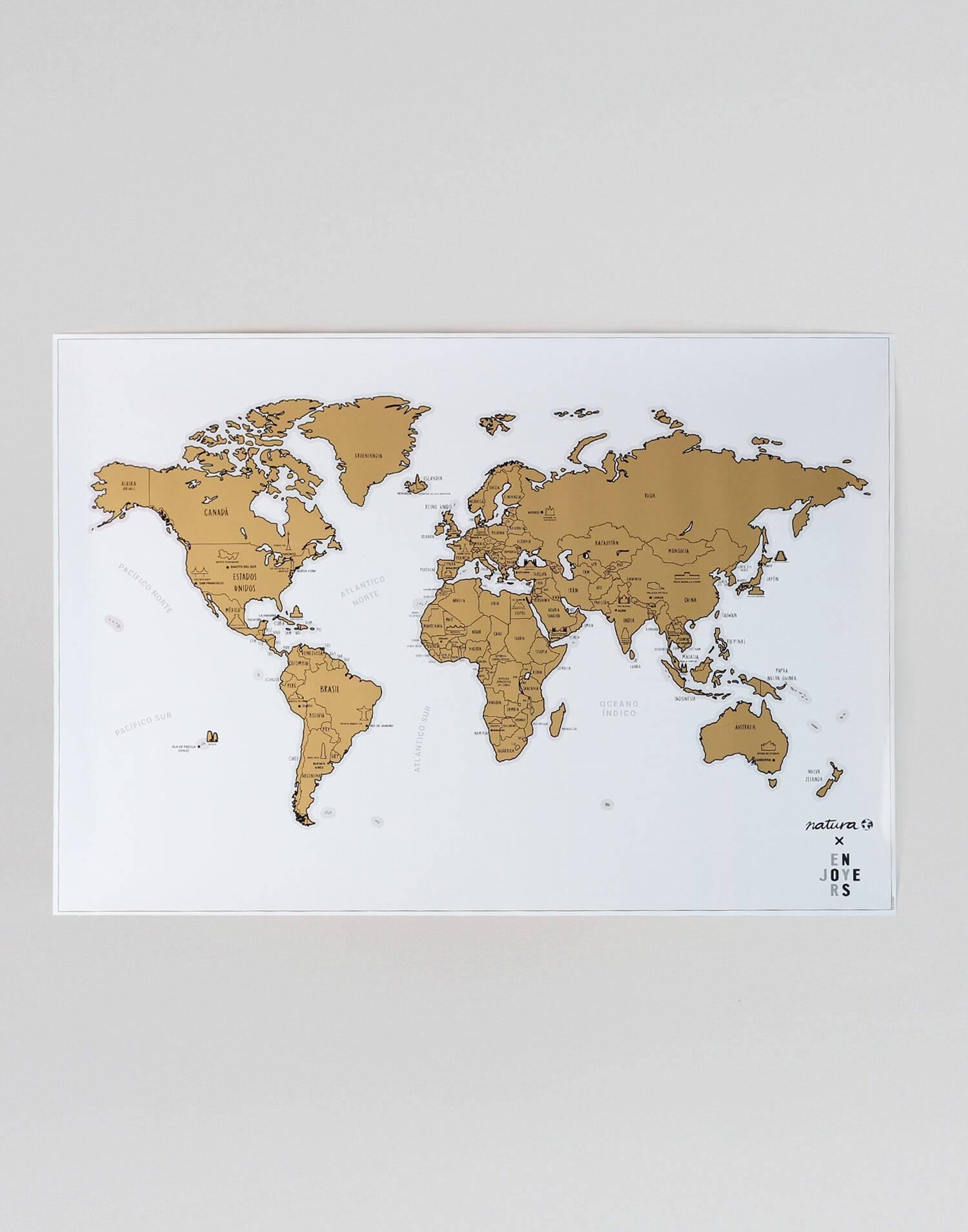 Cartina da grattare monumenti del mondo