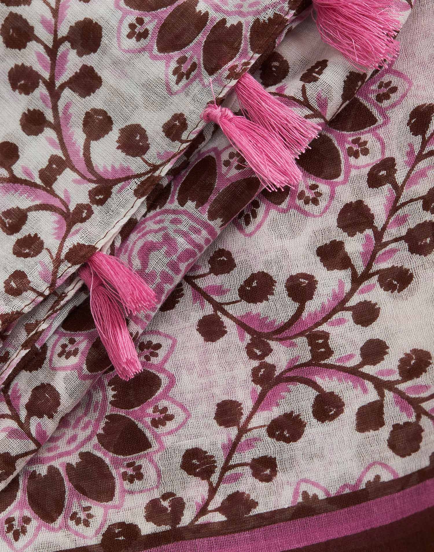 Floral waves printed foulard