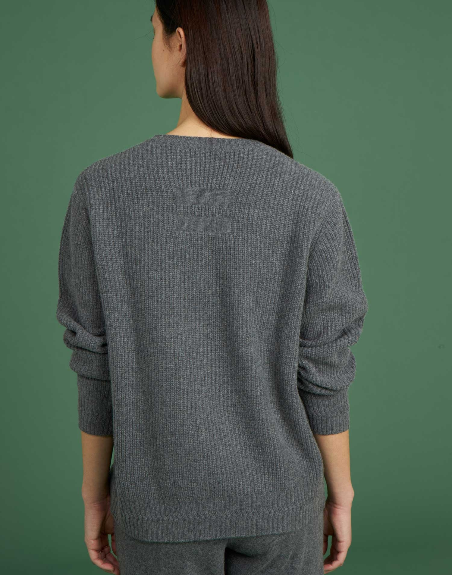 Pull col rond cachemire
