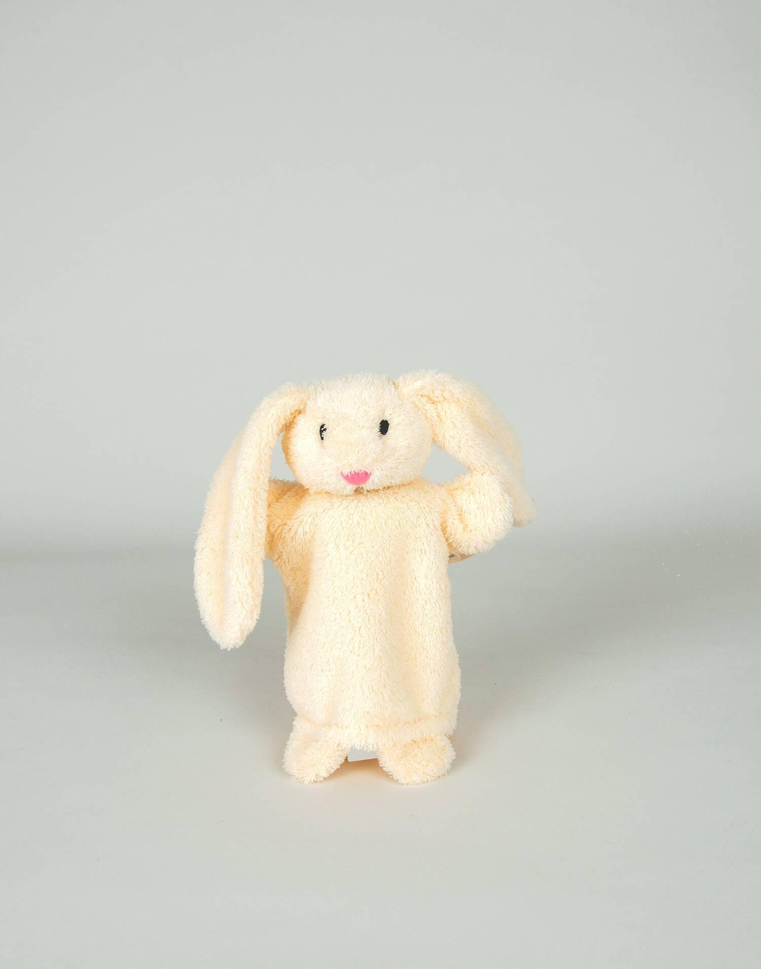 Stuffed rabbit puppet