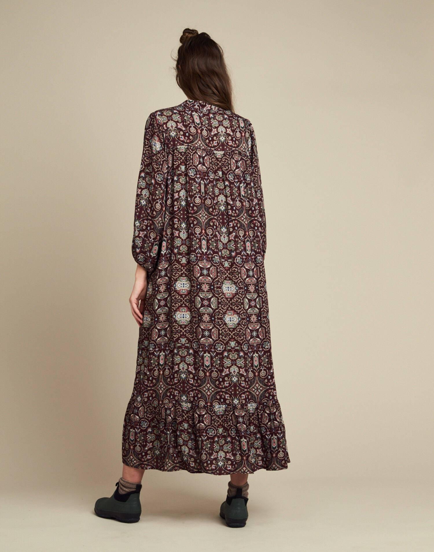 Maxi vestido estampado barroco