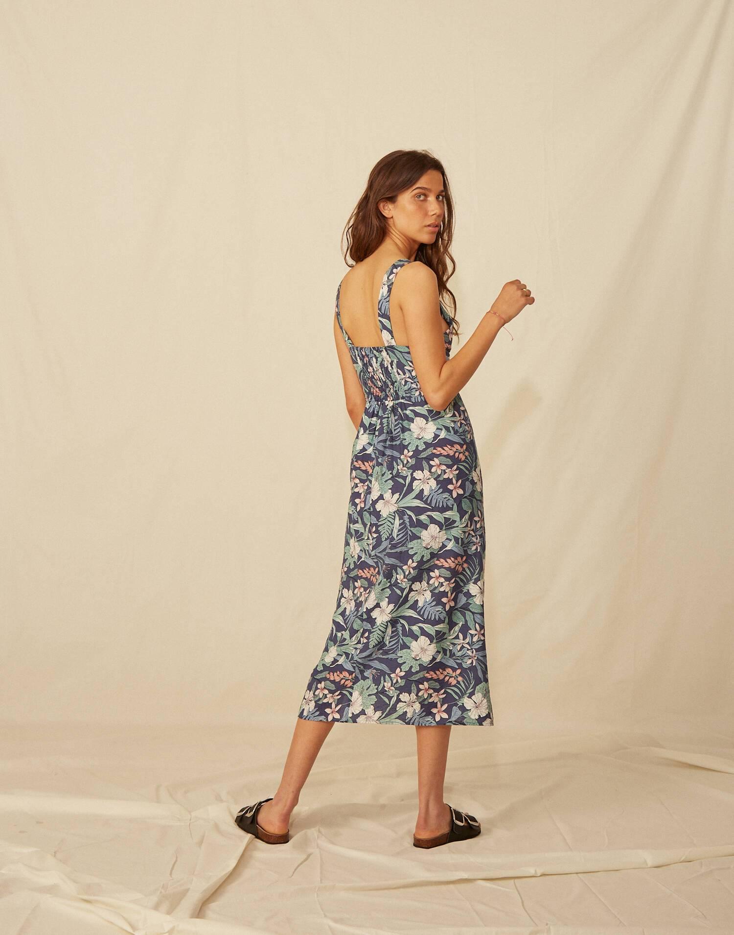 Hibiscus midi dress