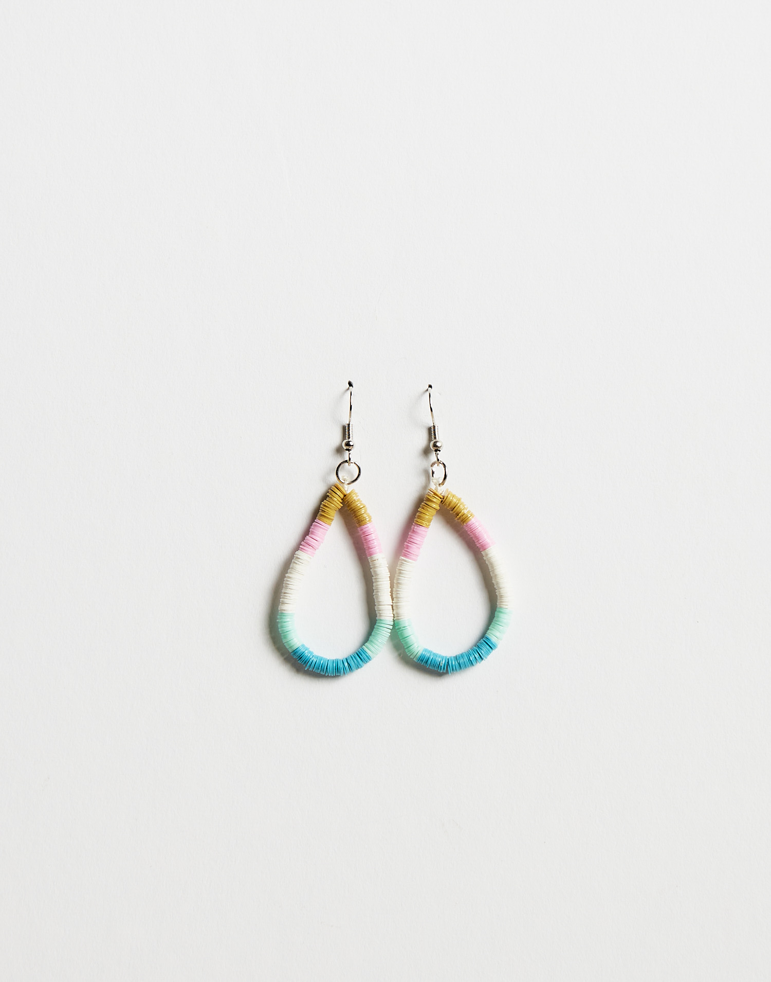 Colorful beaded drop earring