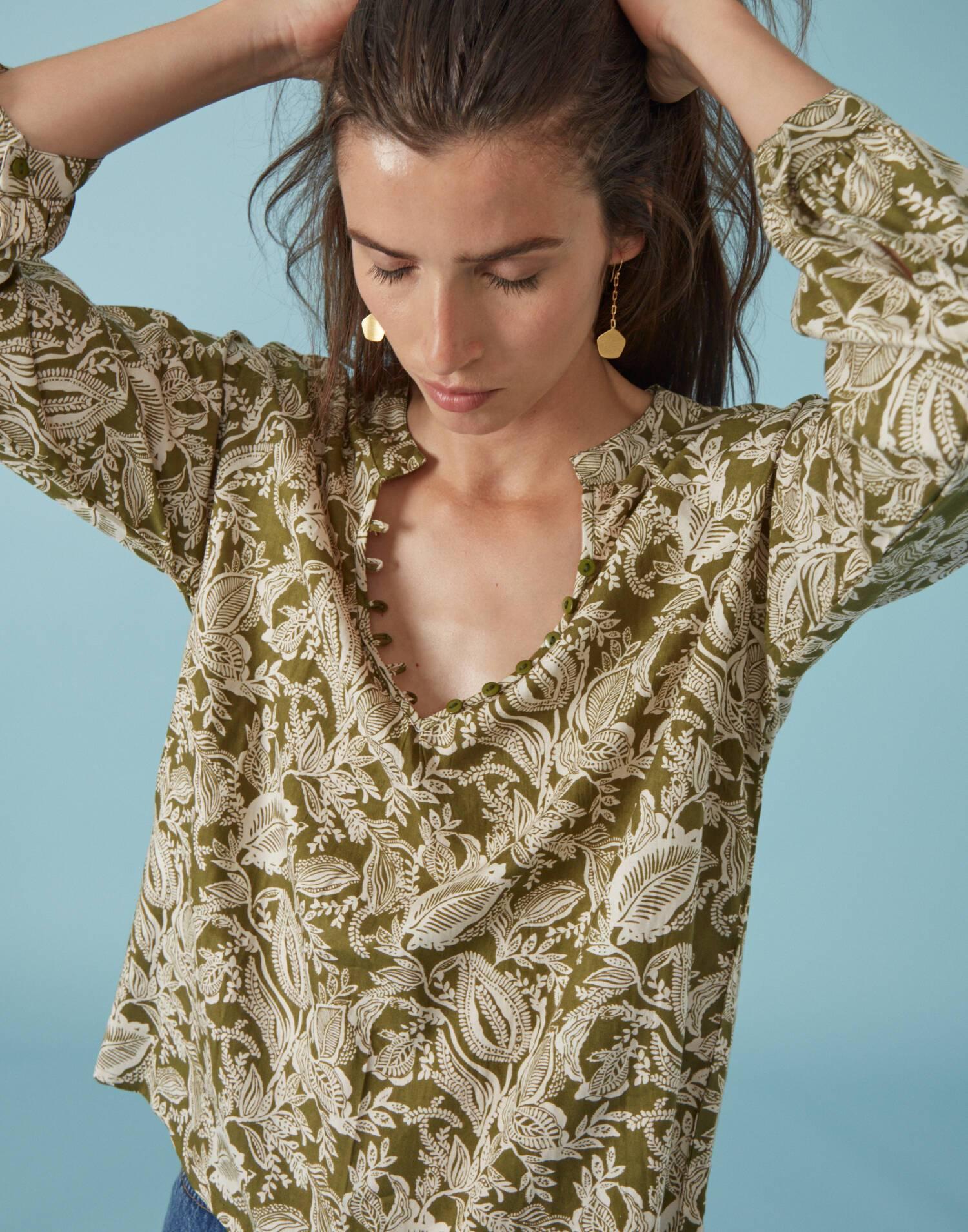 Camisa print paisley
