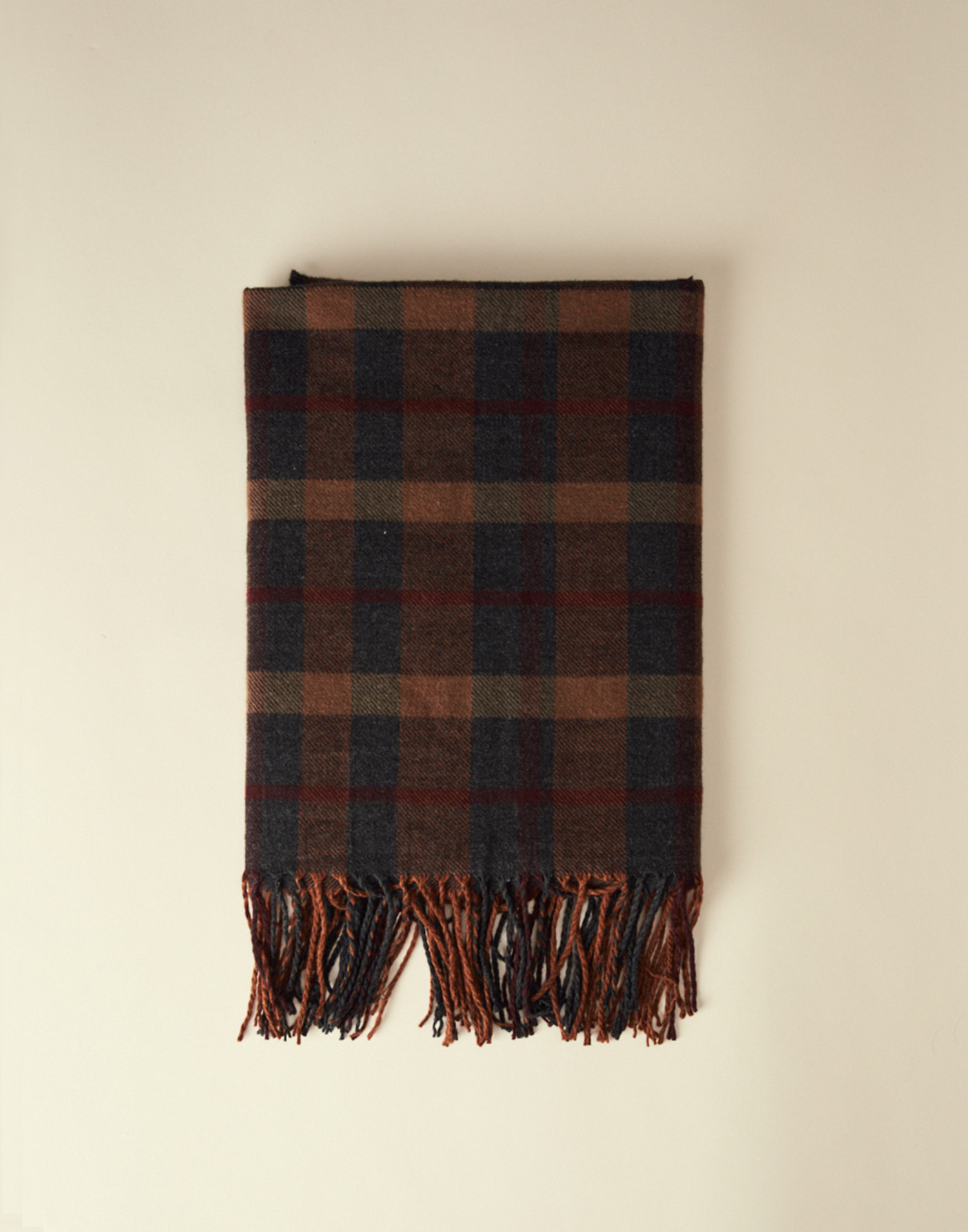Dark plaid scarf