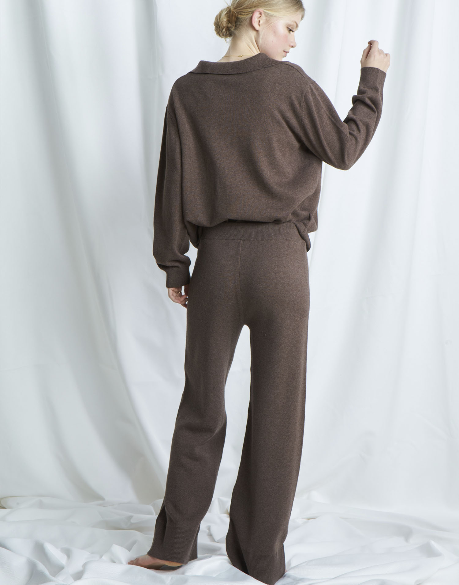Organic wide tricot pants