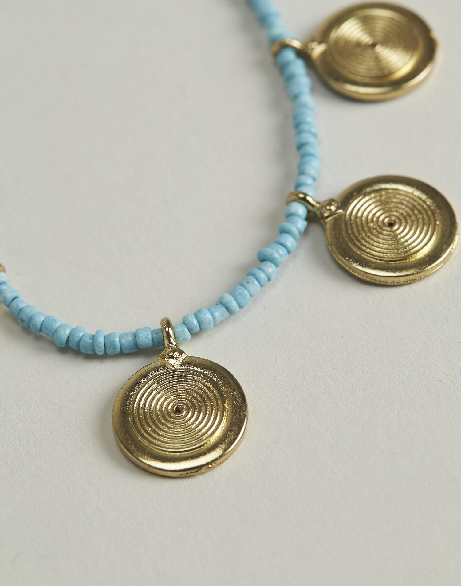 Spiral medallions necklace