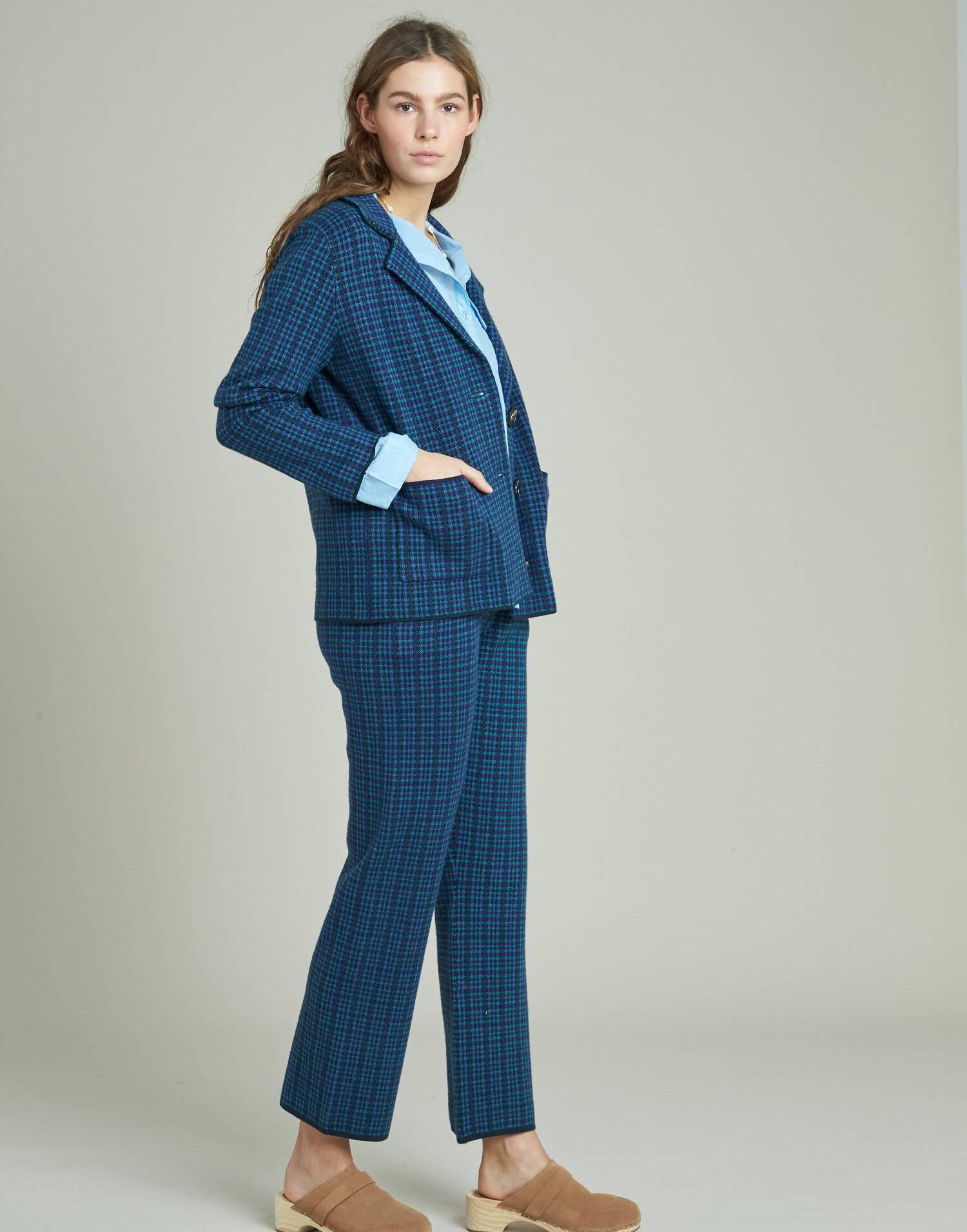 Tricot plaid pants