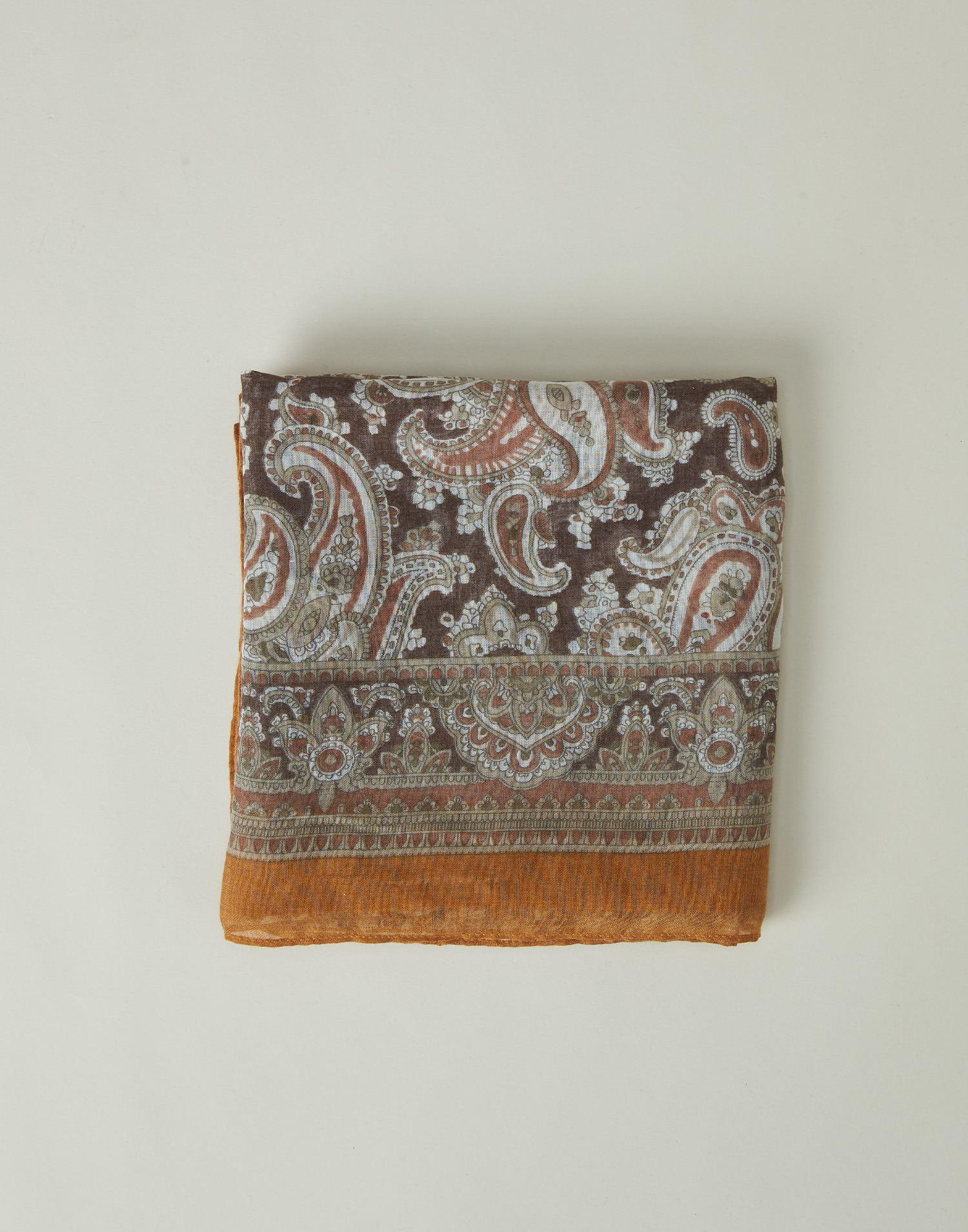 Paisley printed foulard