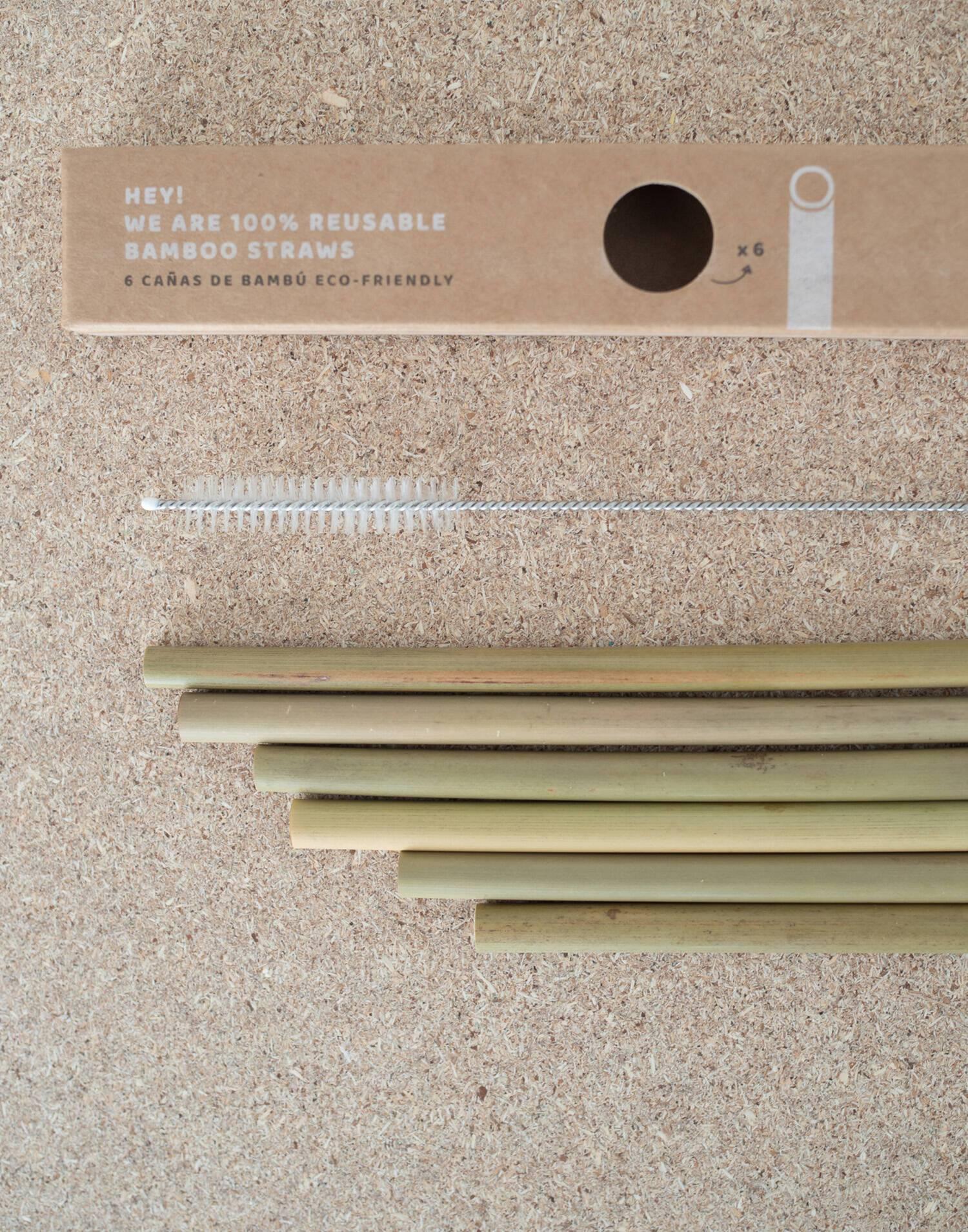 Boîte 6 pailles bambou