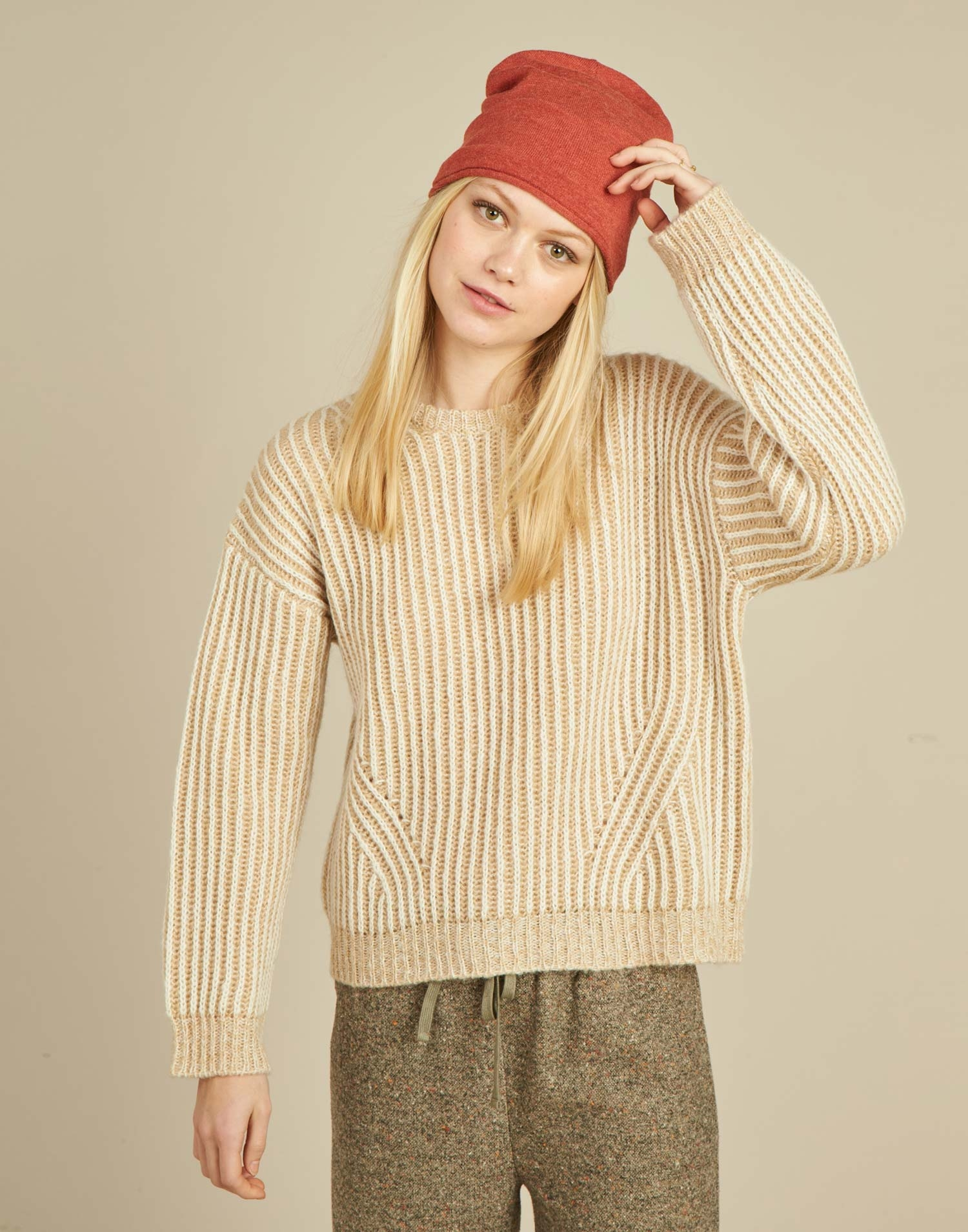 Jersey lana dos tonos