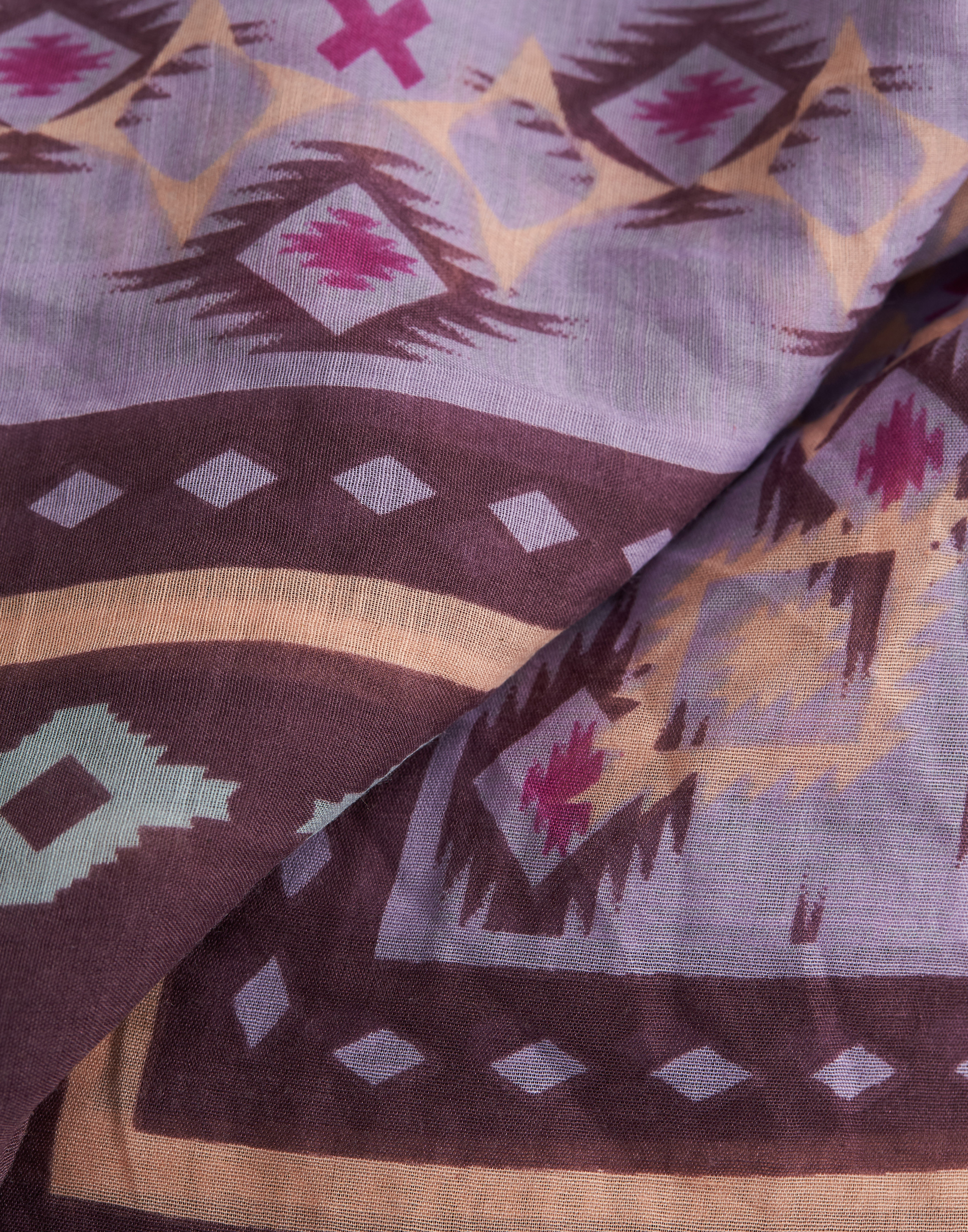 Fular print rombos azteca