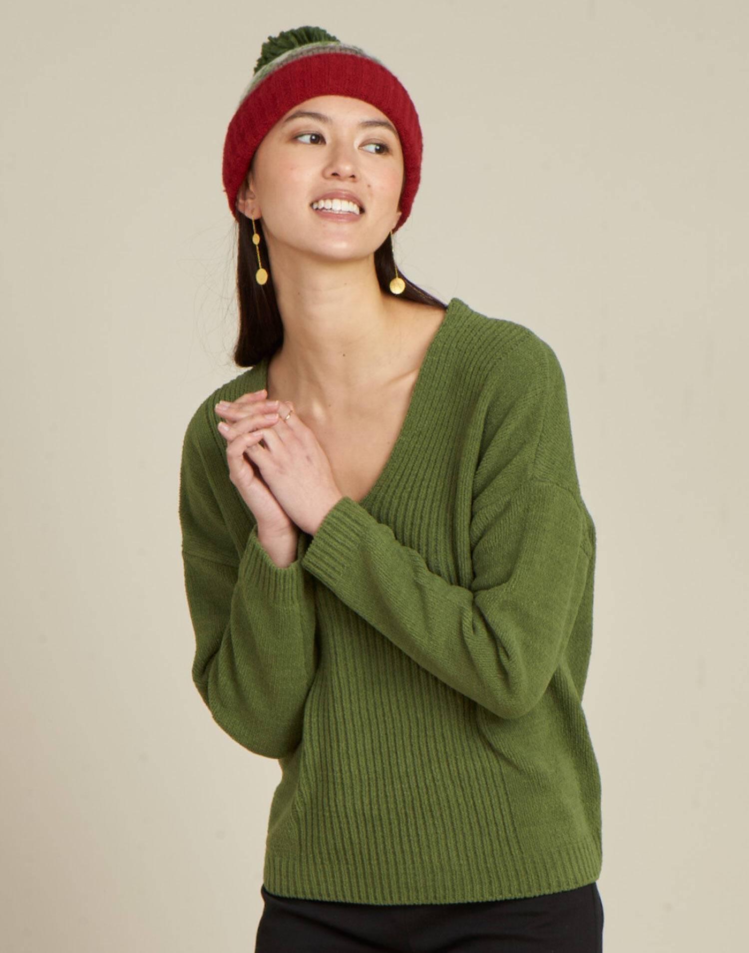 Jersey cuello pico chenilla
