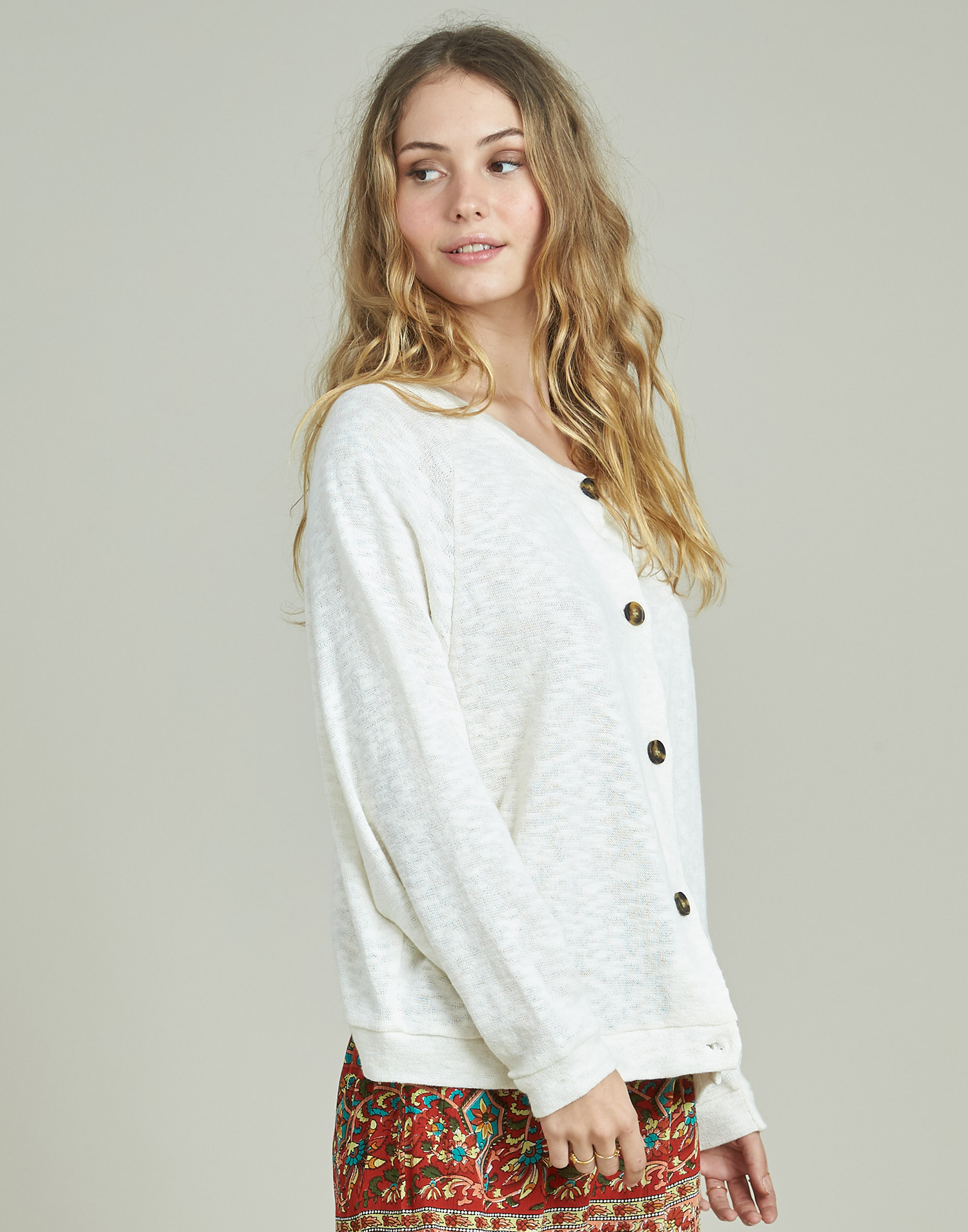 Wide sleeves cardigan