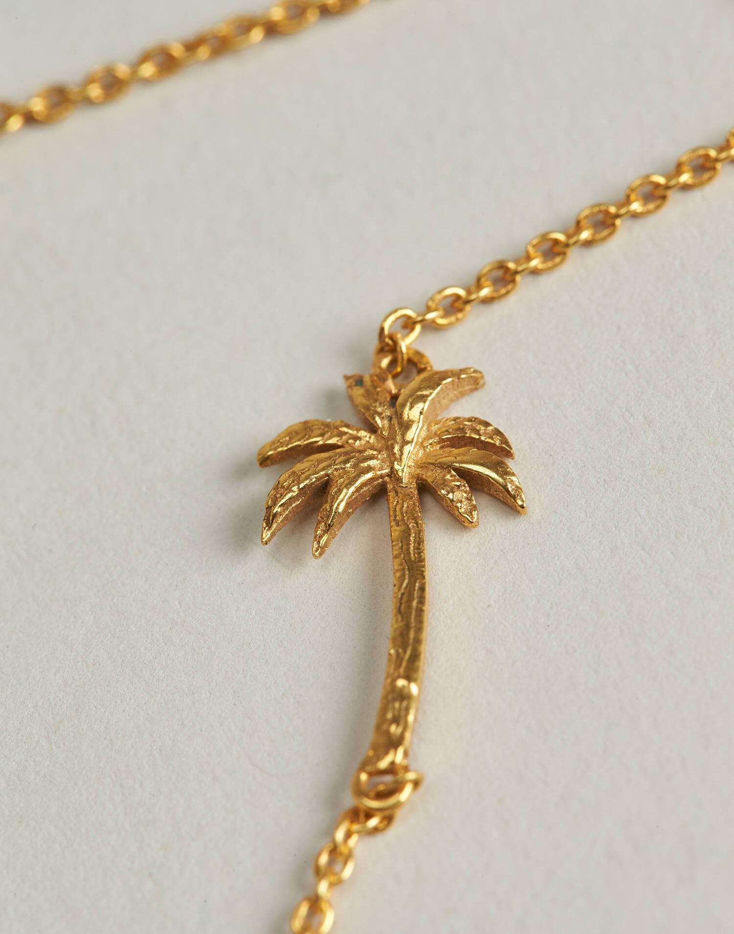 Bracciale palma placcato in oro