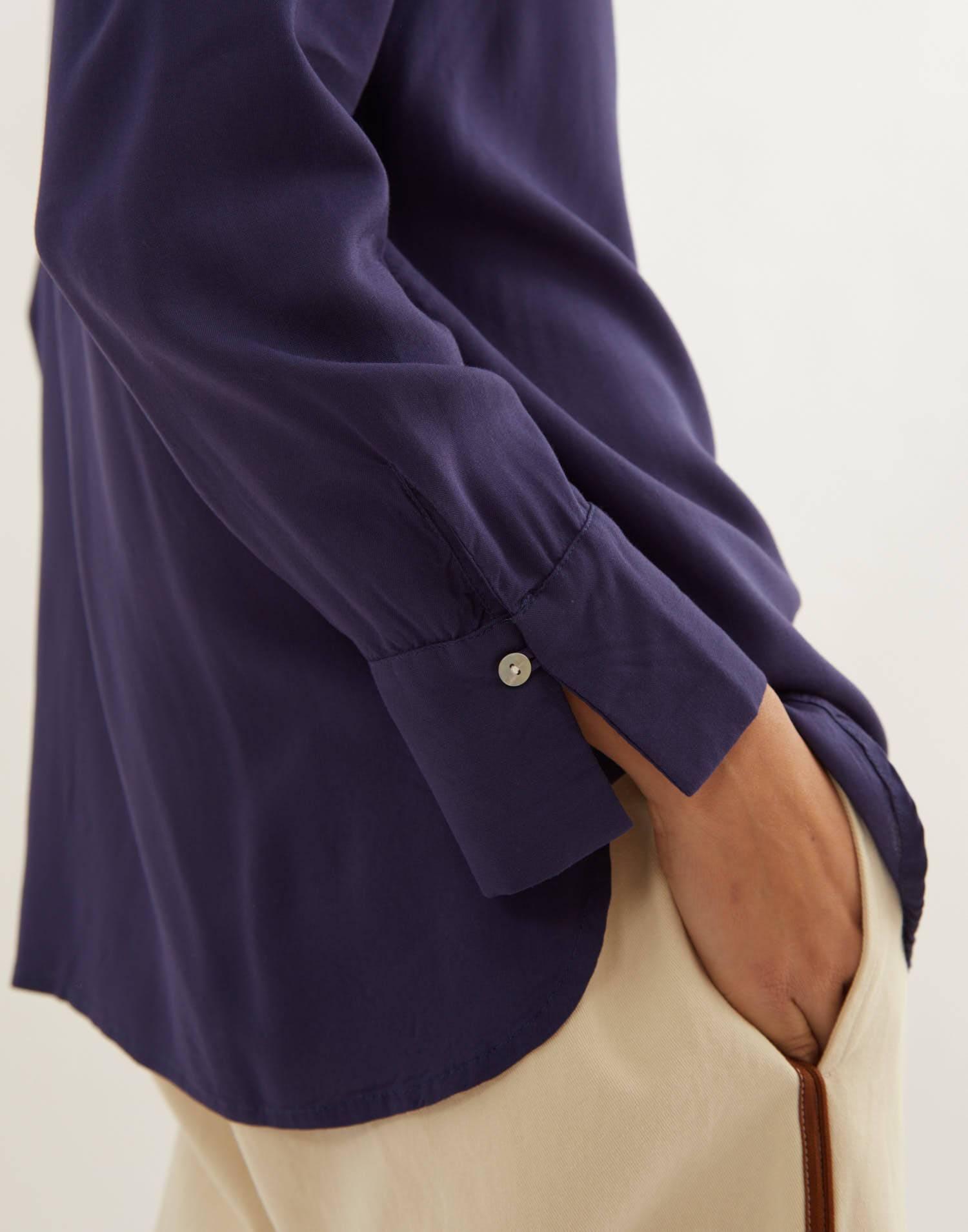 Blusa maniche lunghe bottoni