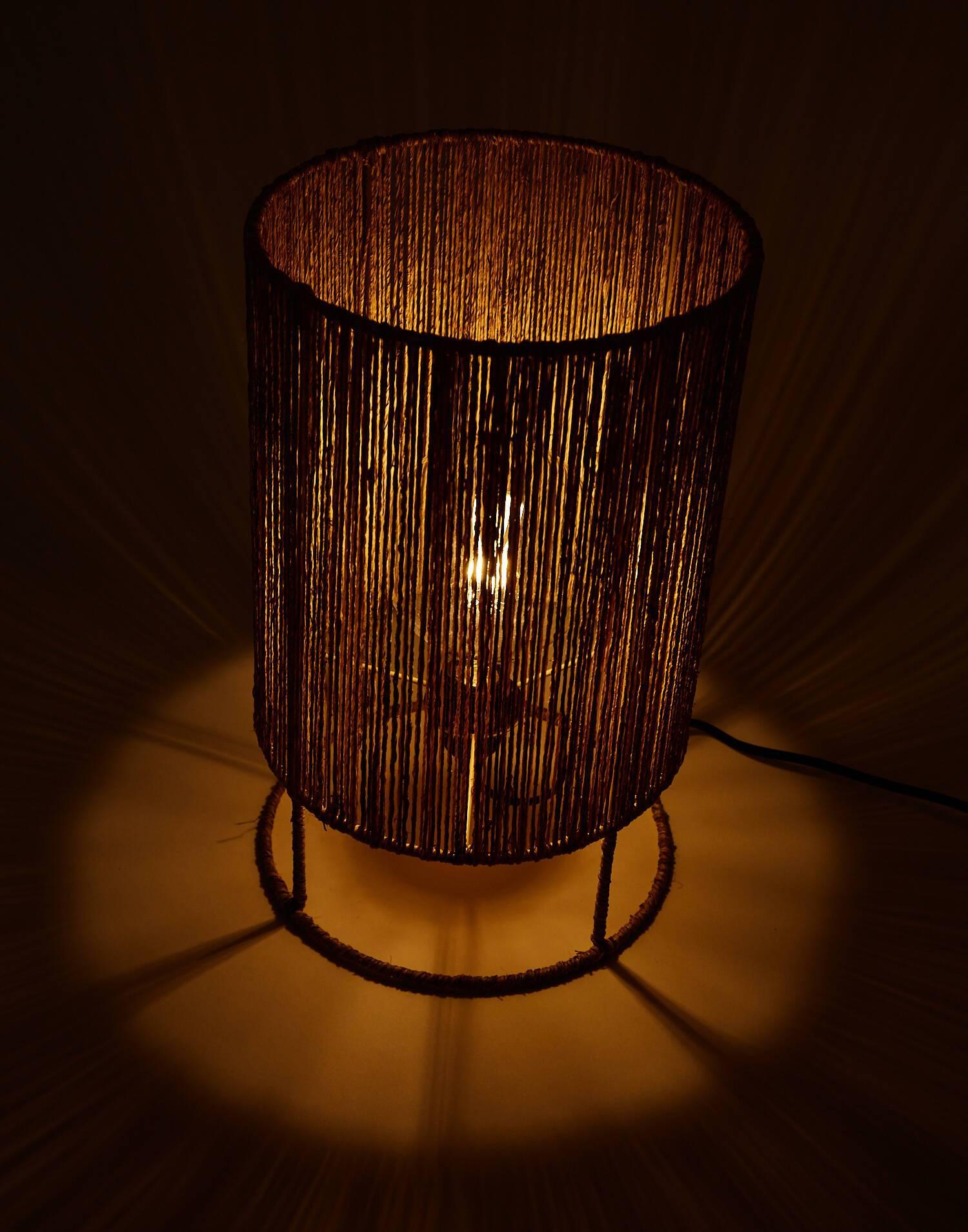 Lámpara mesa yute