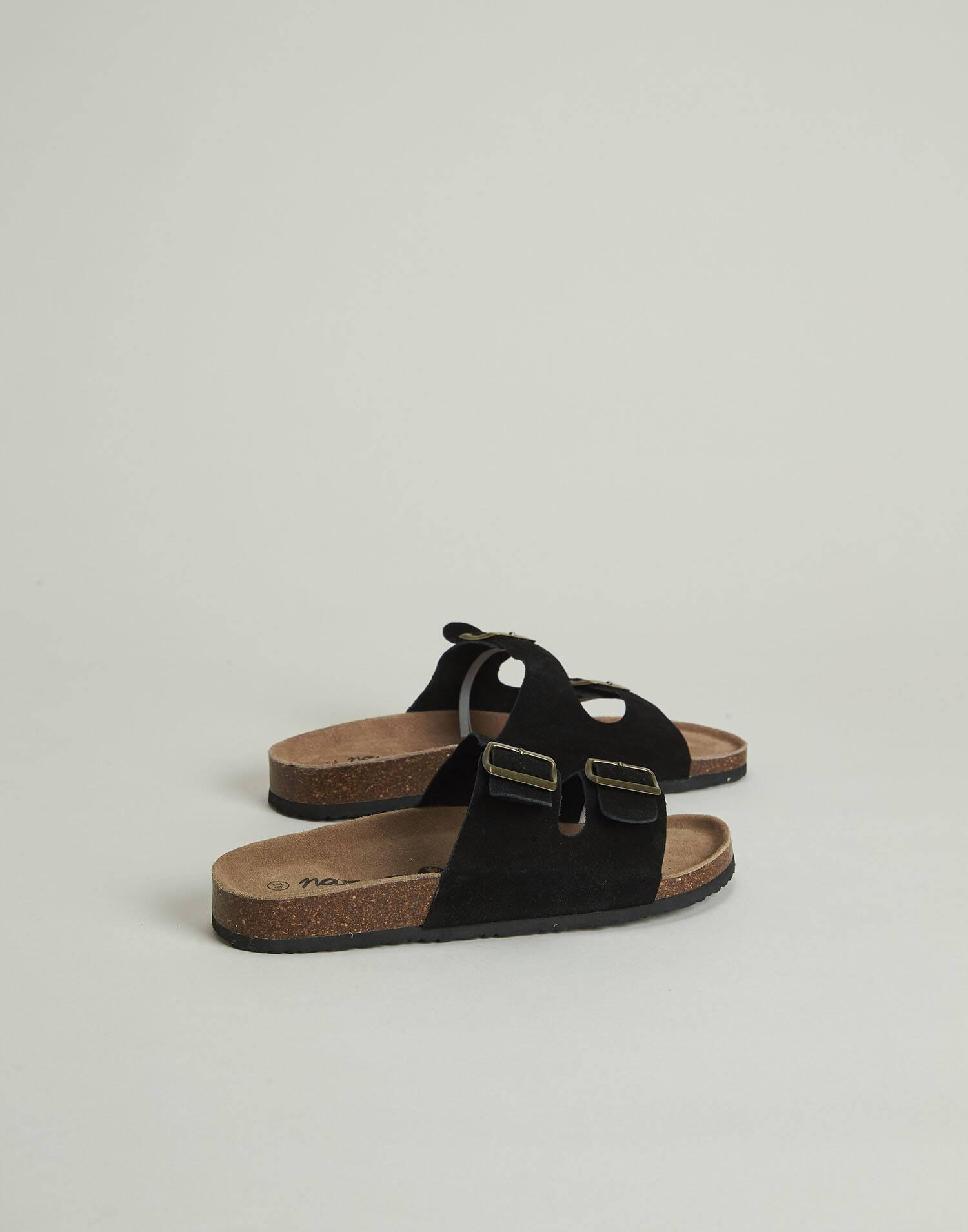 Sandales double boucle ergonomiques cuir homme
