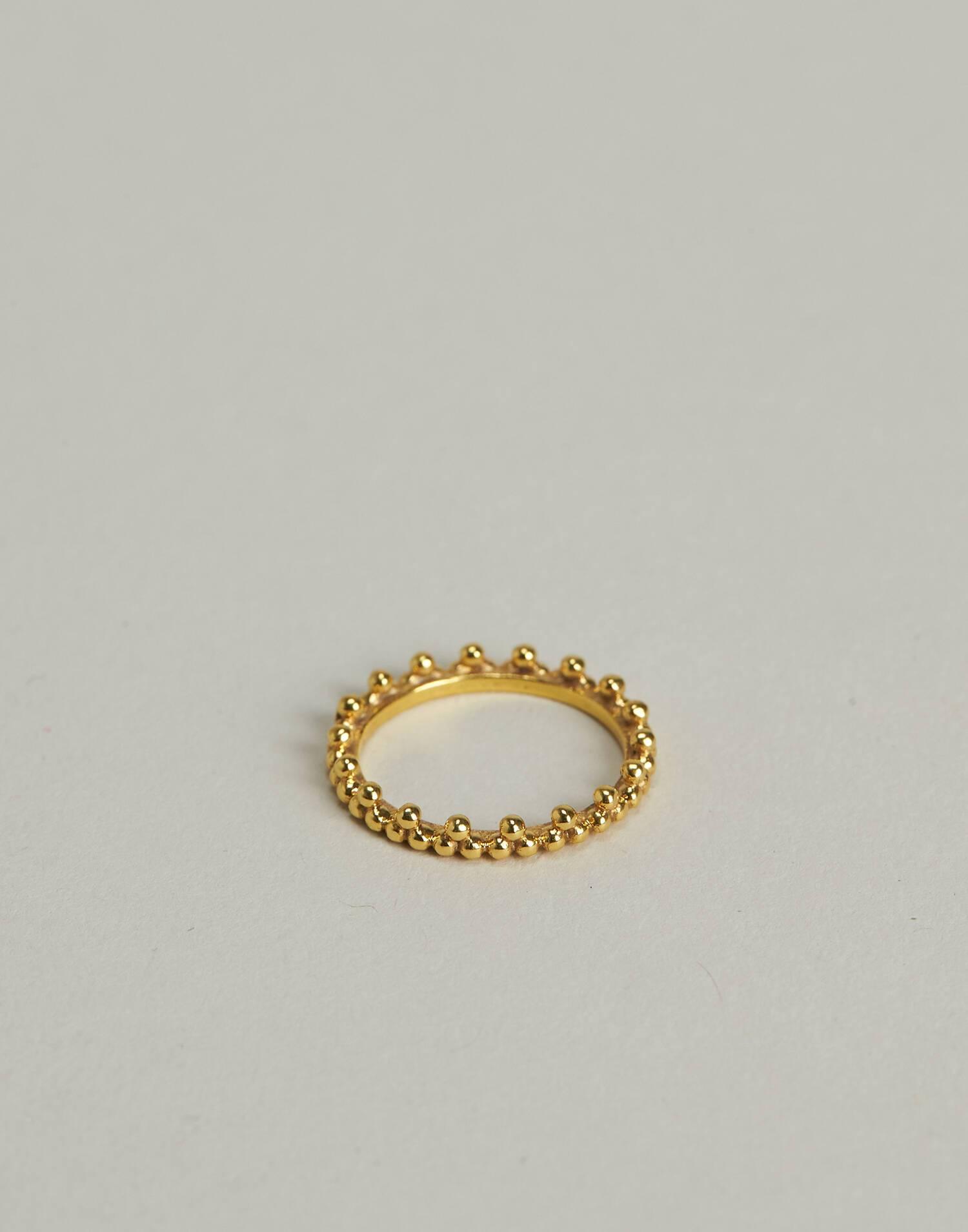 Anillo puntas baño de oro