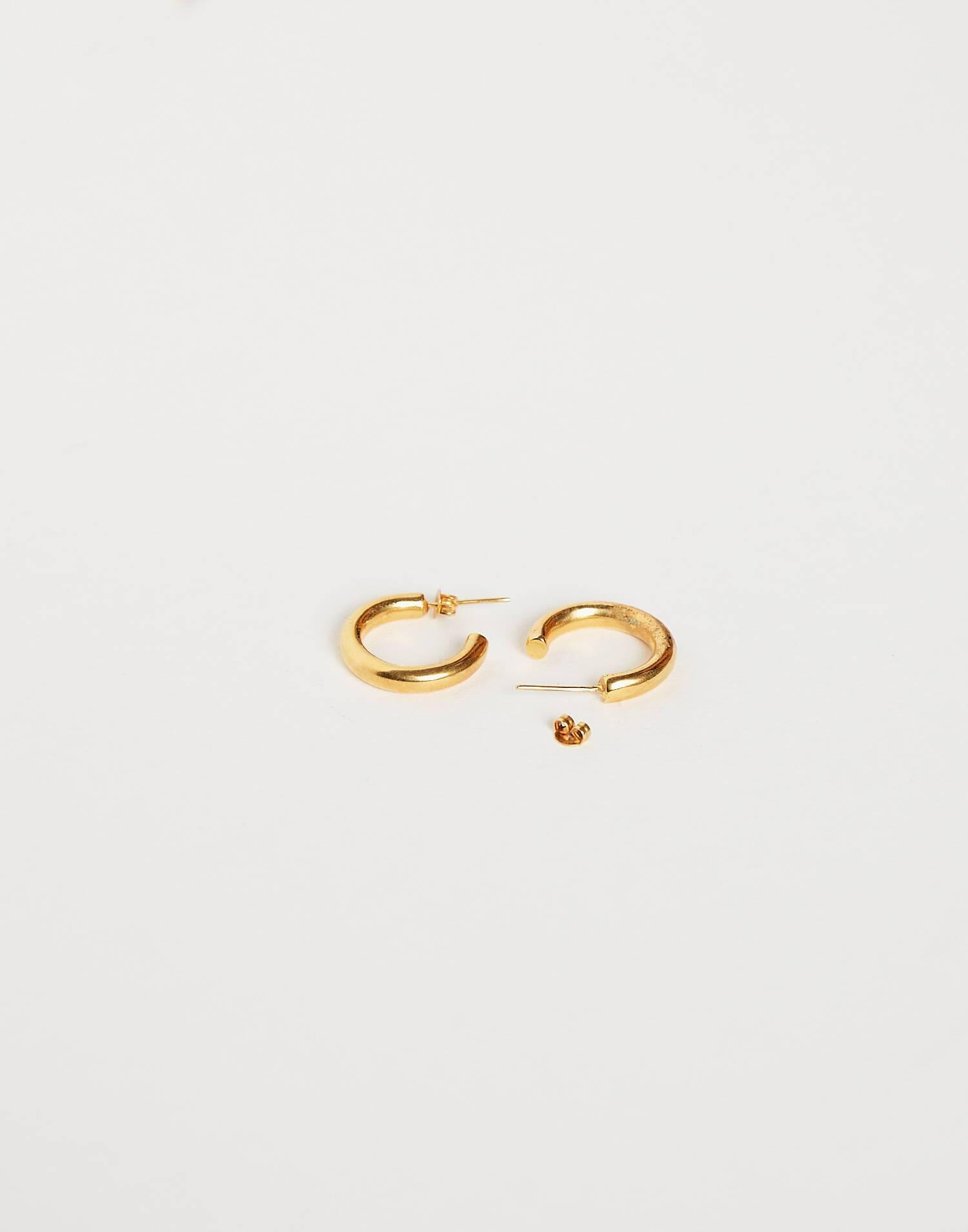 Aros pequeños baño de oro