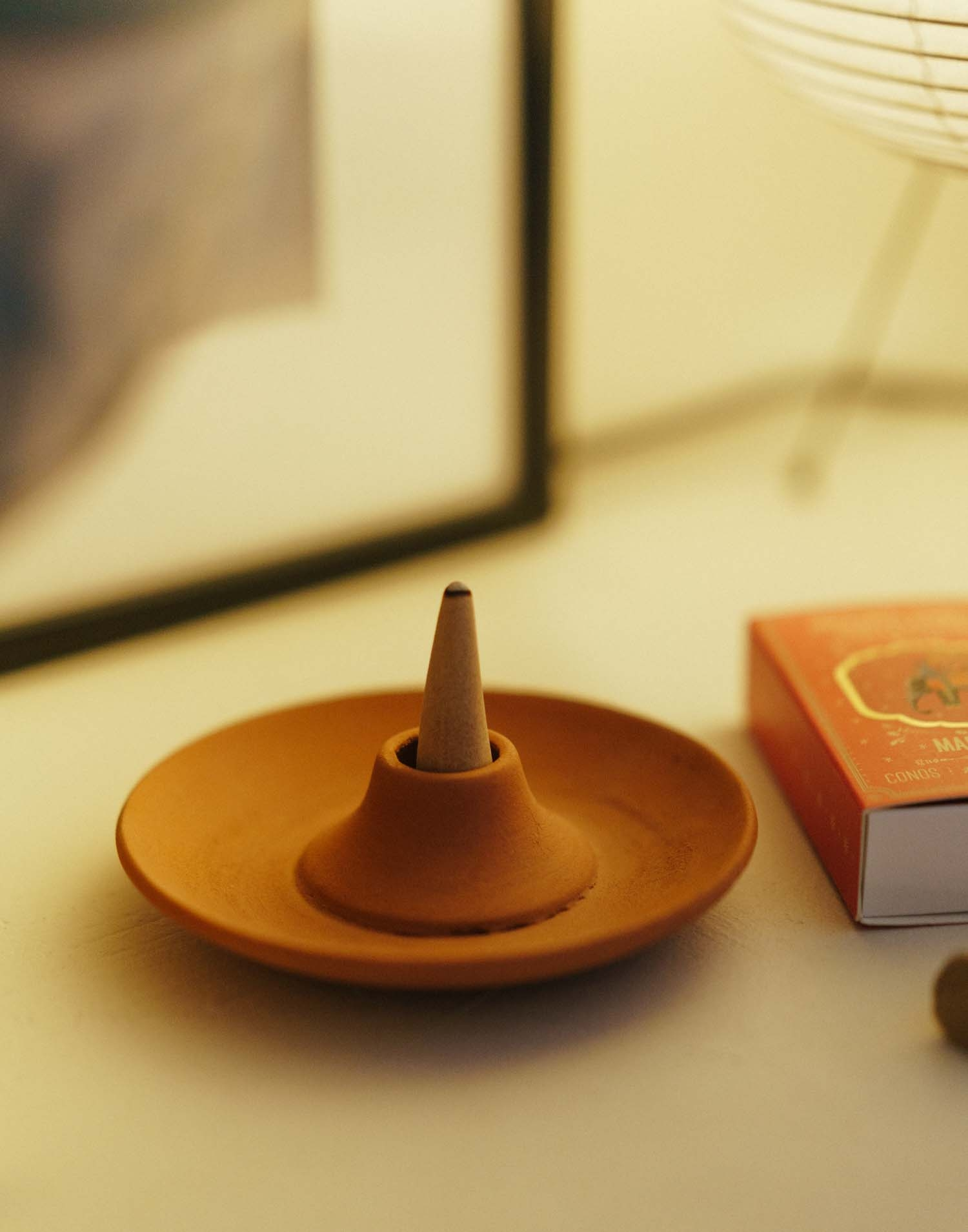 Terracotta incense and palo santo holder