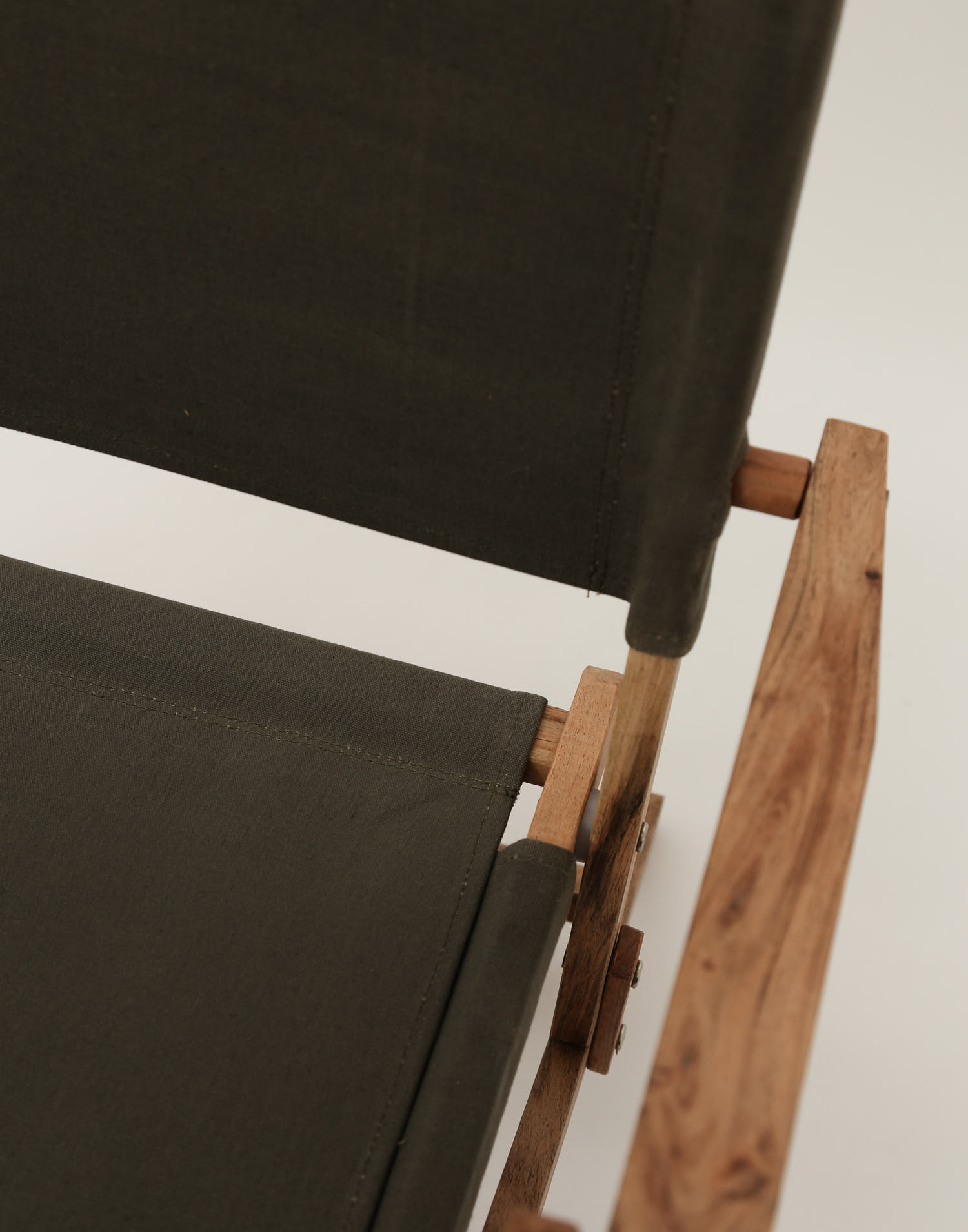 Canvas and wood chair