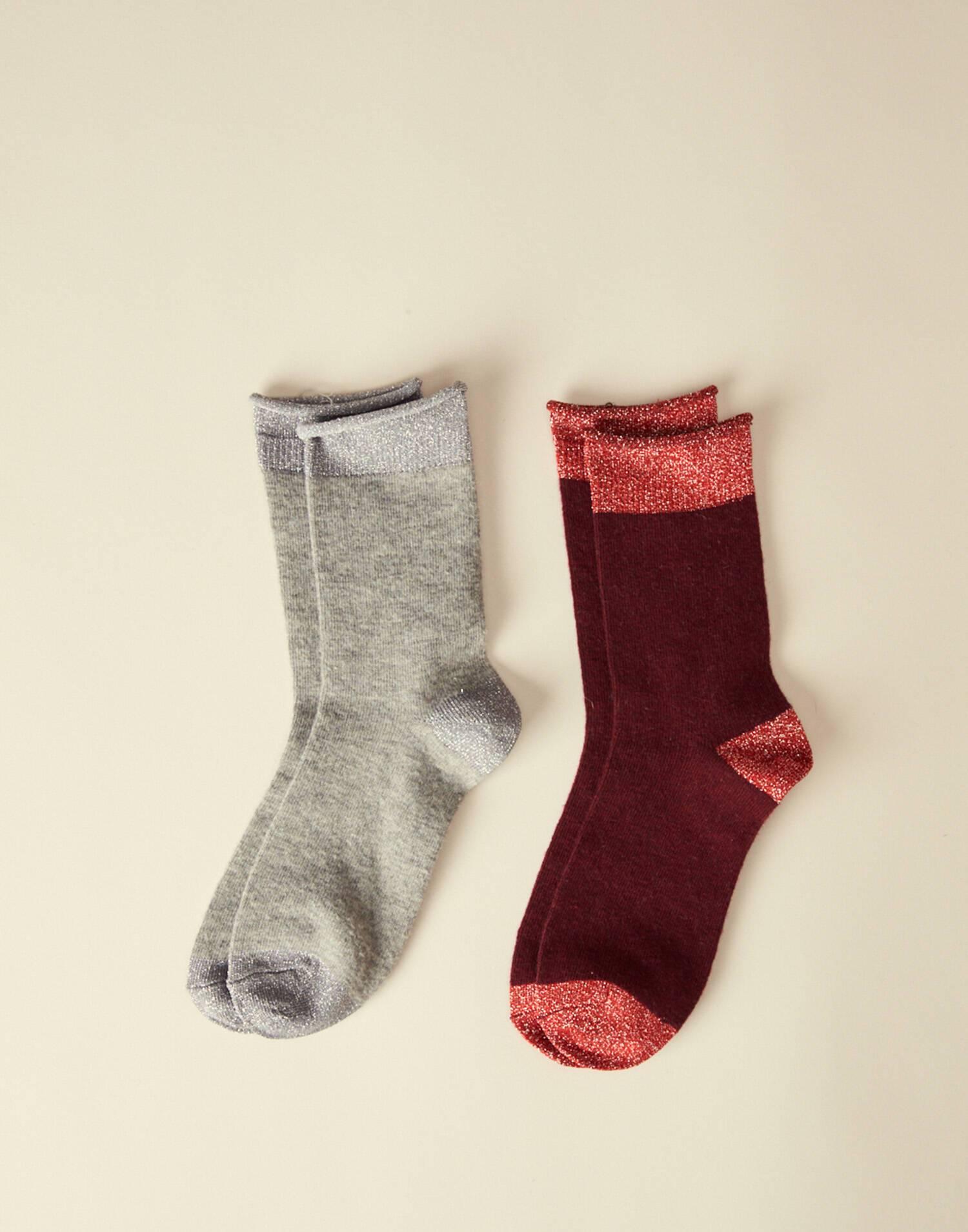 2 set lurex socks
