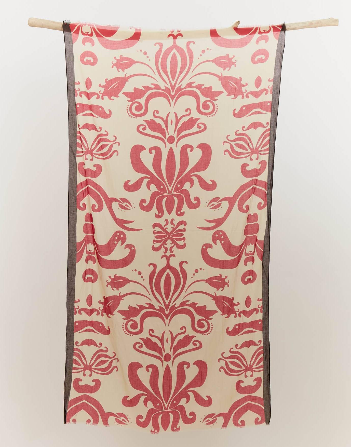 Cotton large print scarf